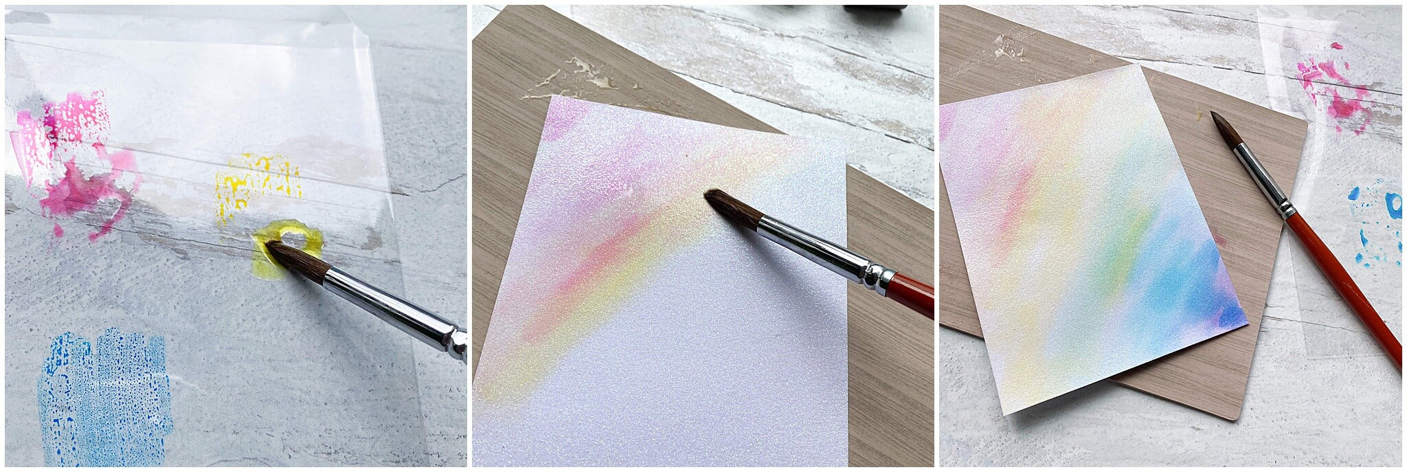 painting your paper for diy stickers