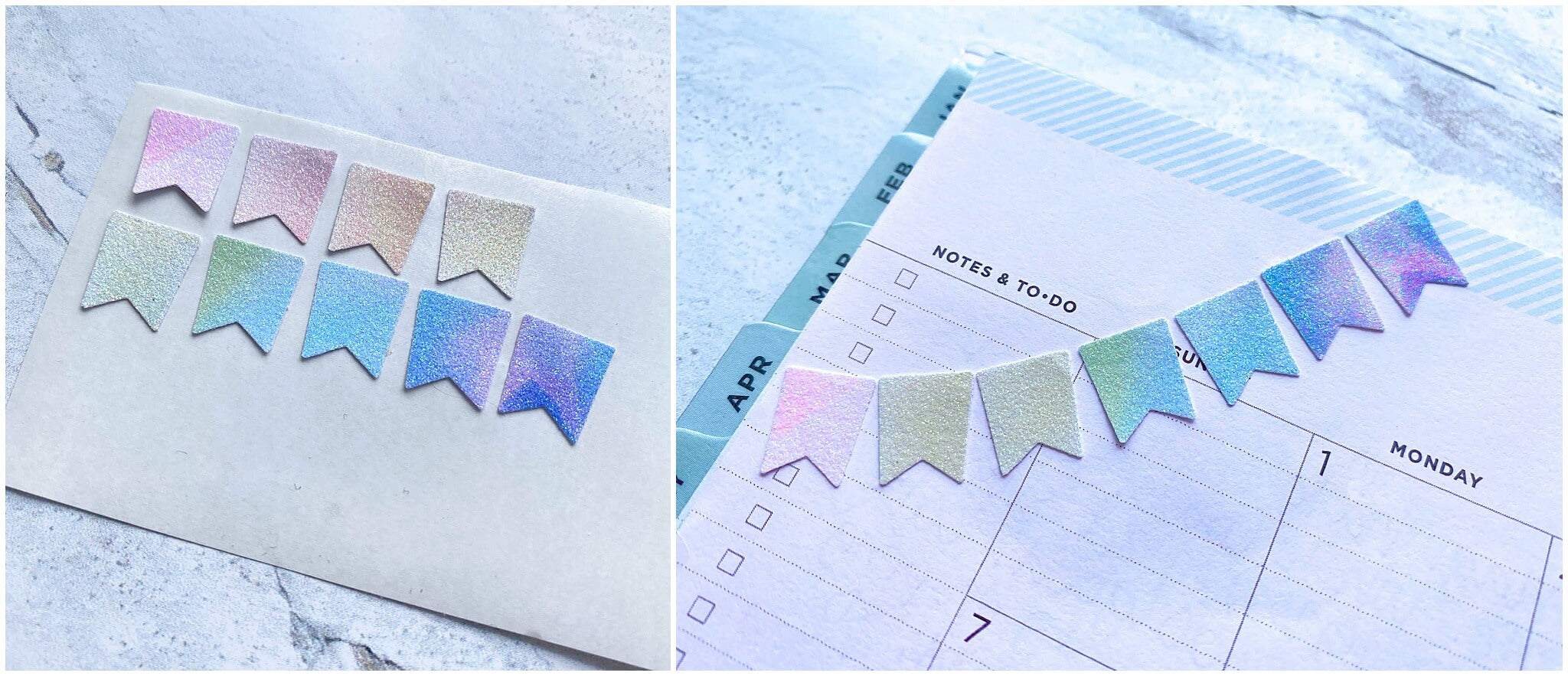 Using your new DIY paper stickers