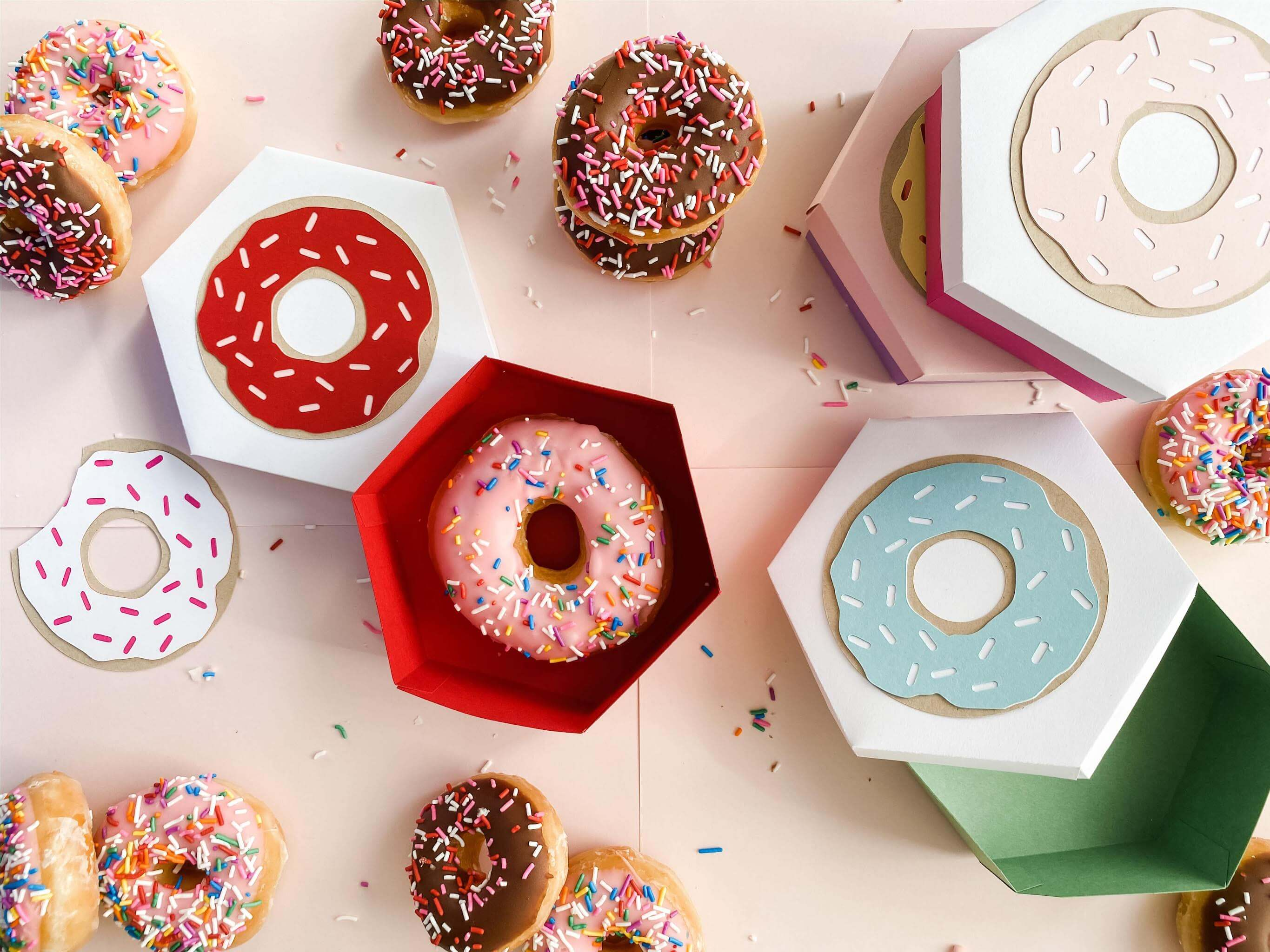 Cardstock Paper Donut Treat Boxes