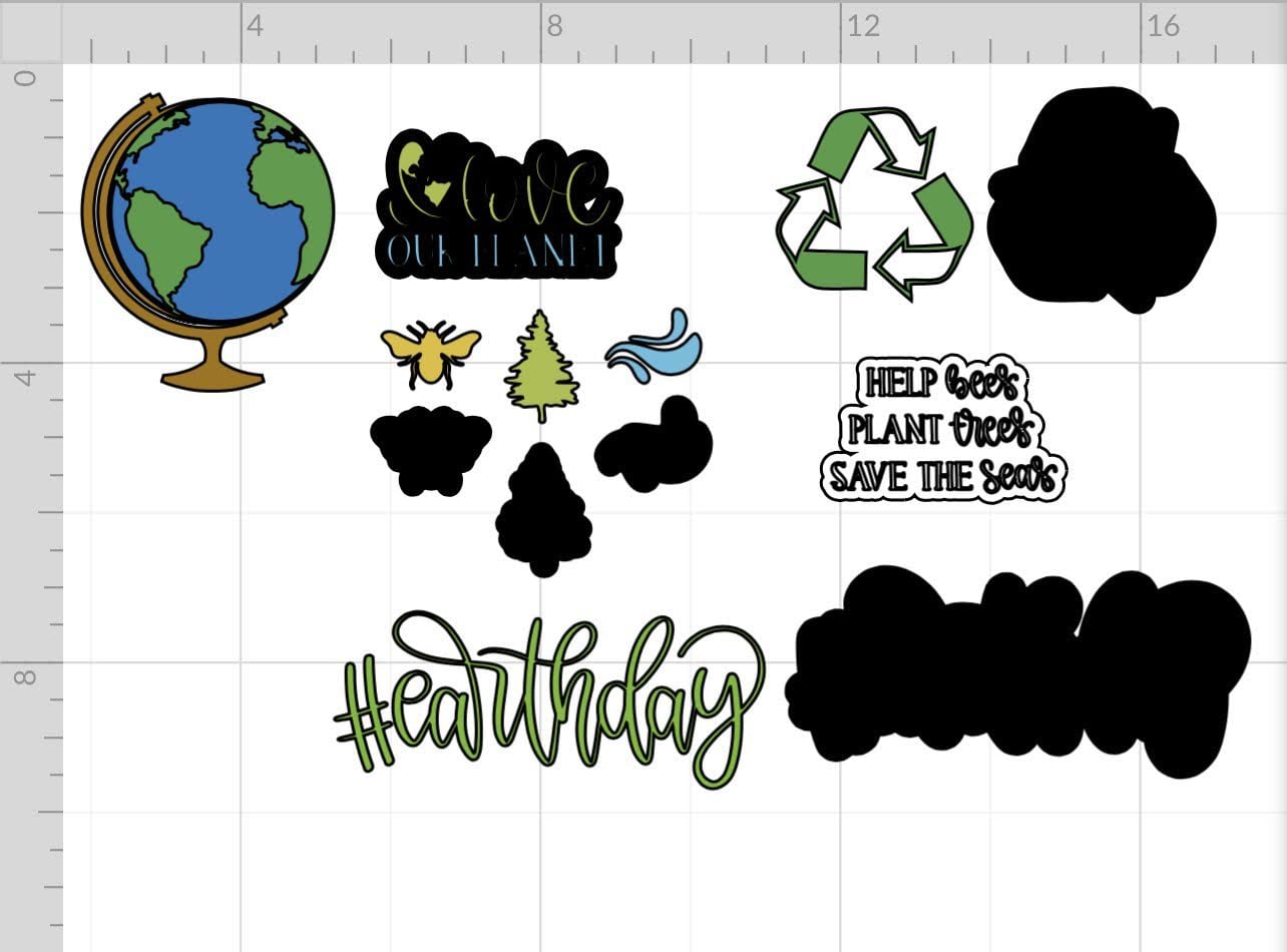 design space files for earth day magnets