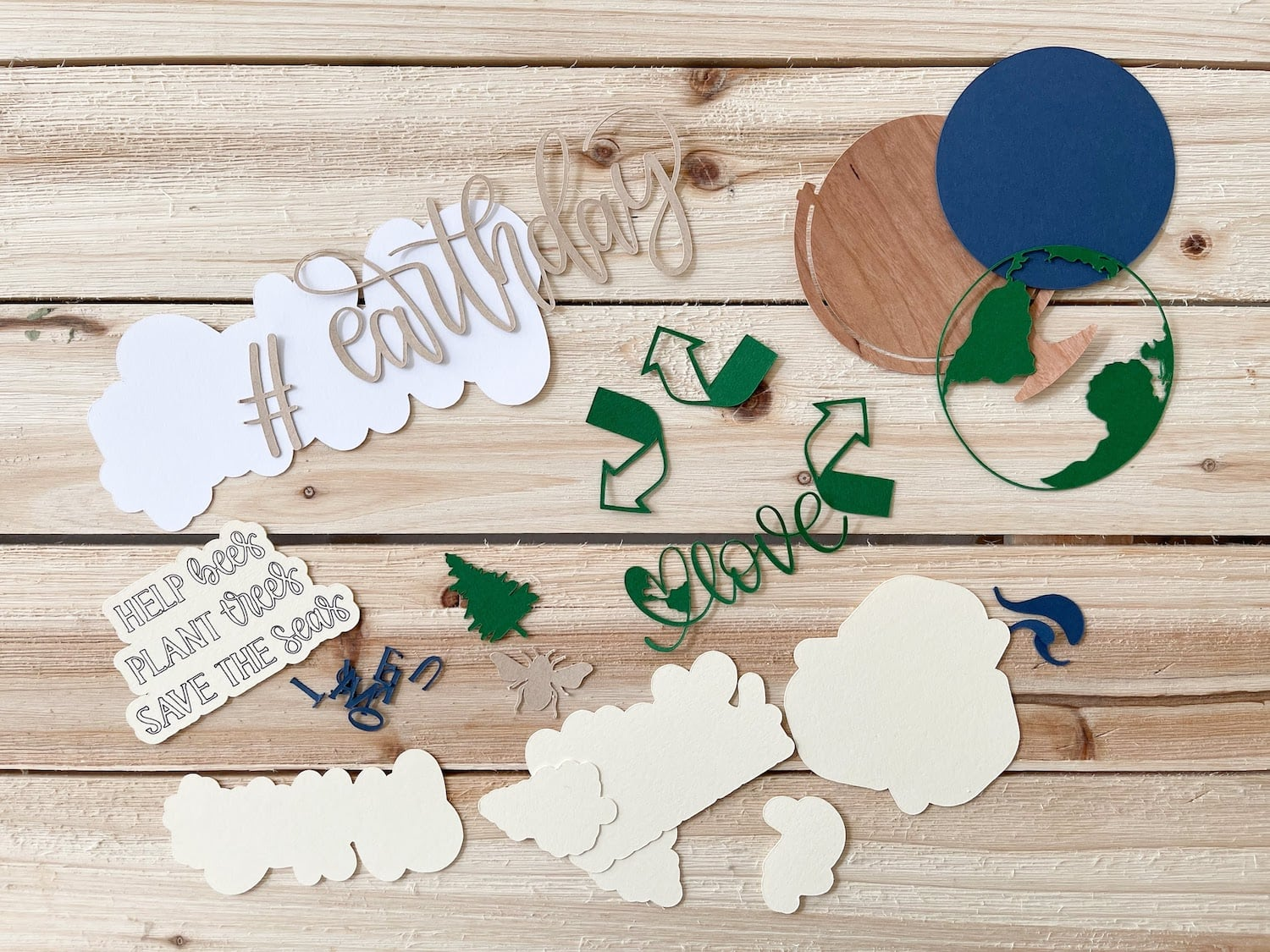 die cut pieces for earth day magnets