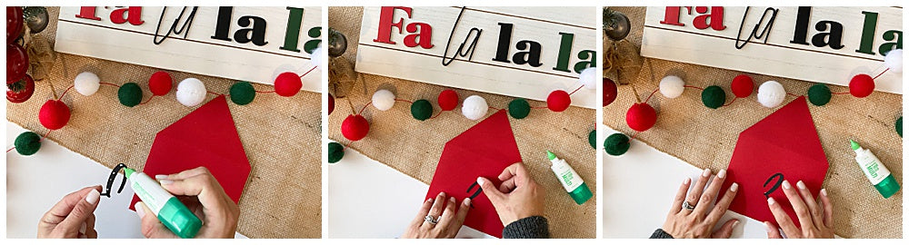 Adding numbers to envelopes for DIY envelope advent banner
