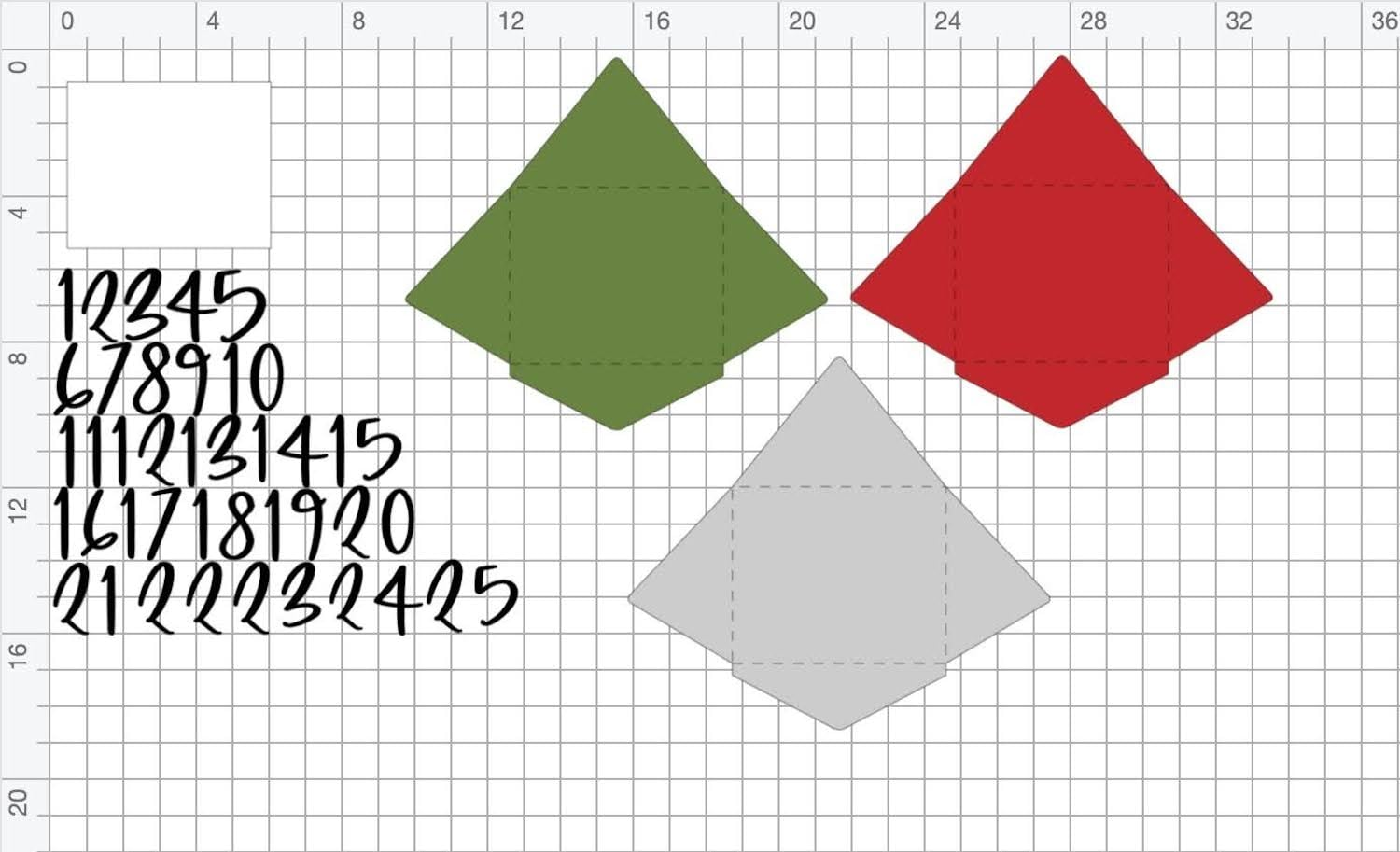Die cutting files for DIY envelope advent banner