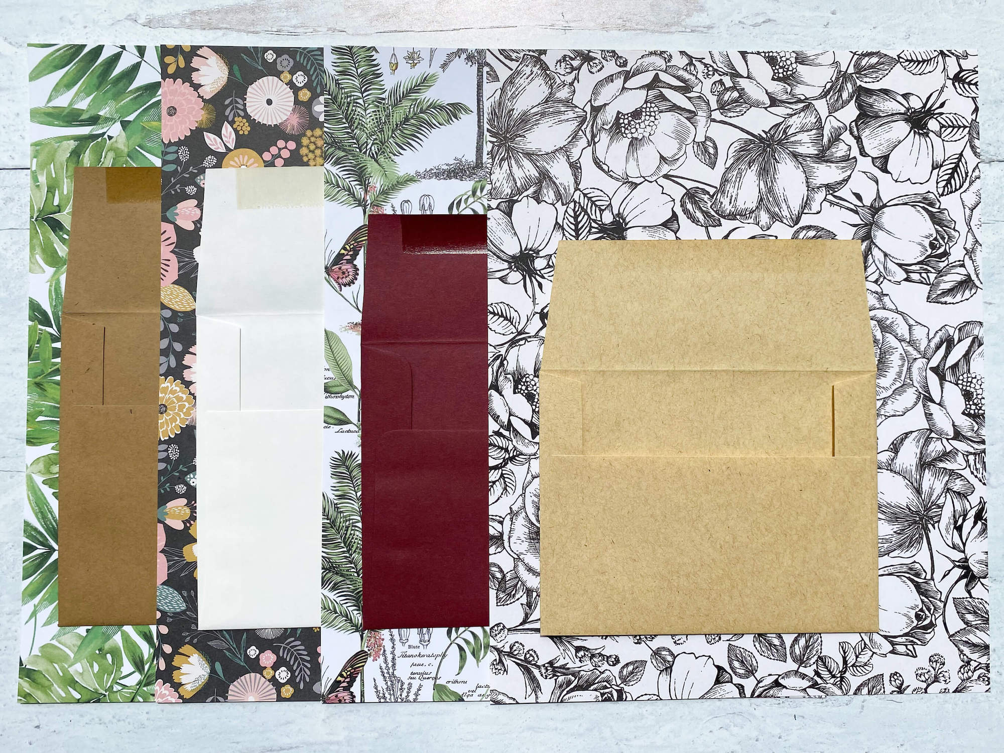 DIY envelope liners Paper Choices