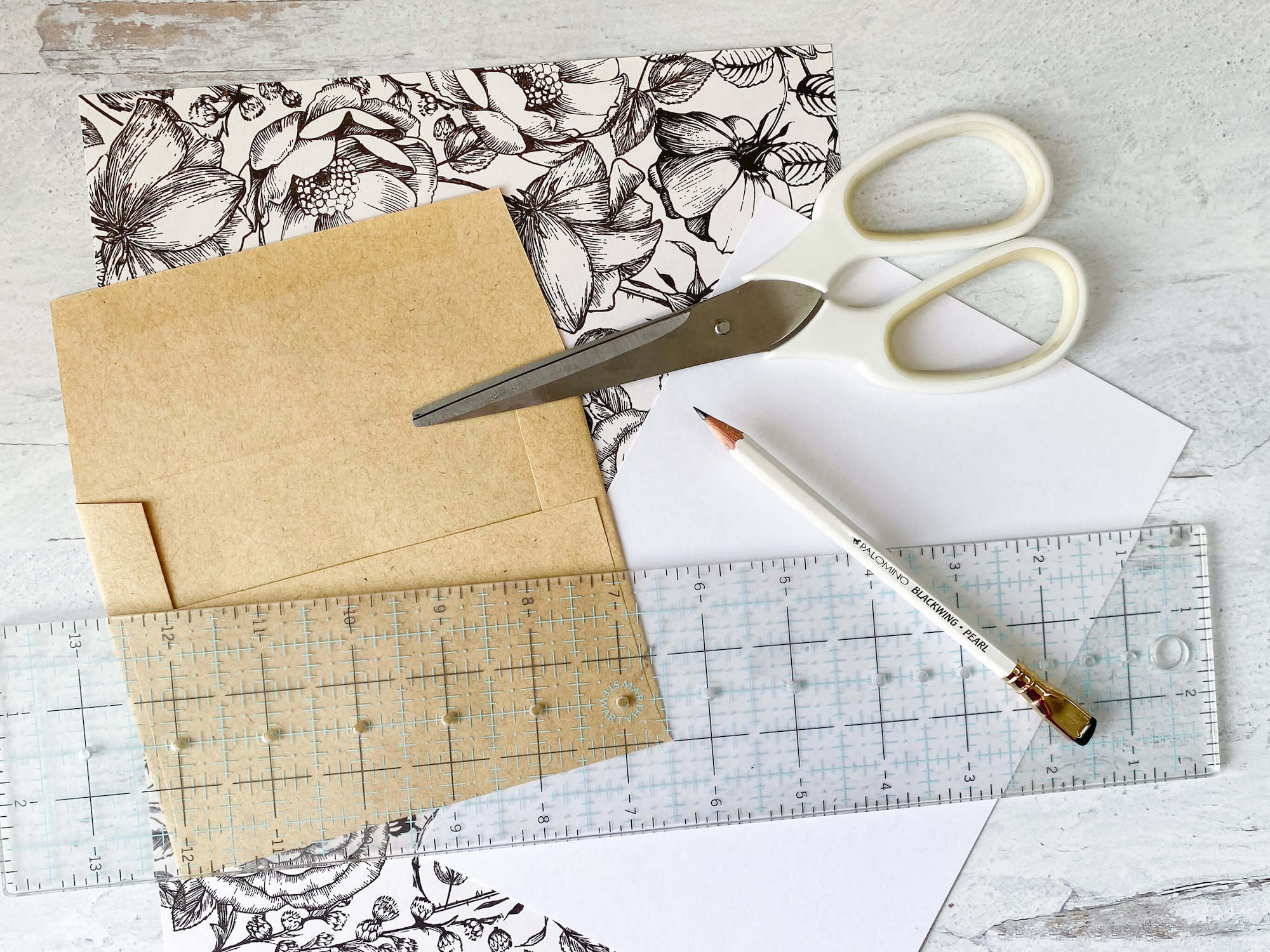 DIY envelope liners supplies