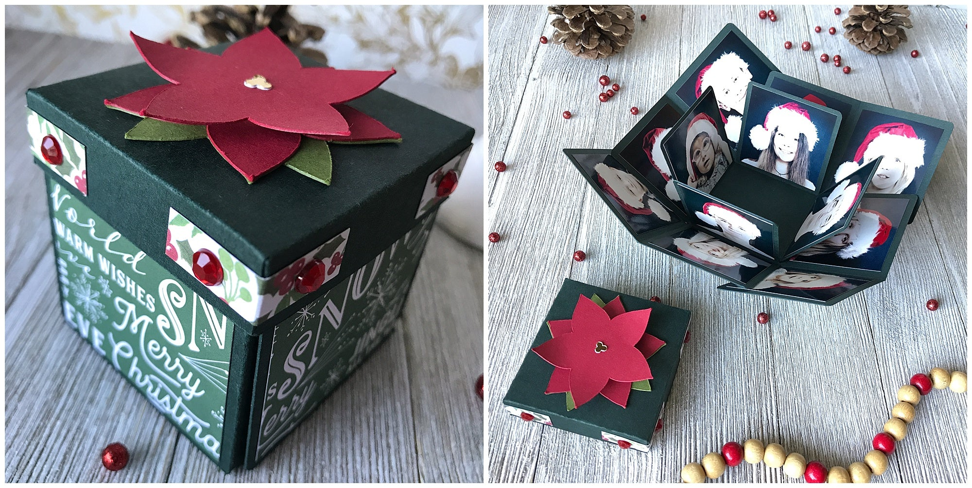 Miniature Christmas Explosion Box open and closed