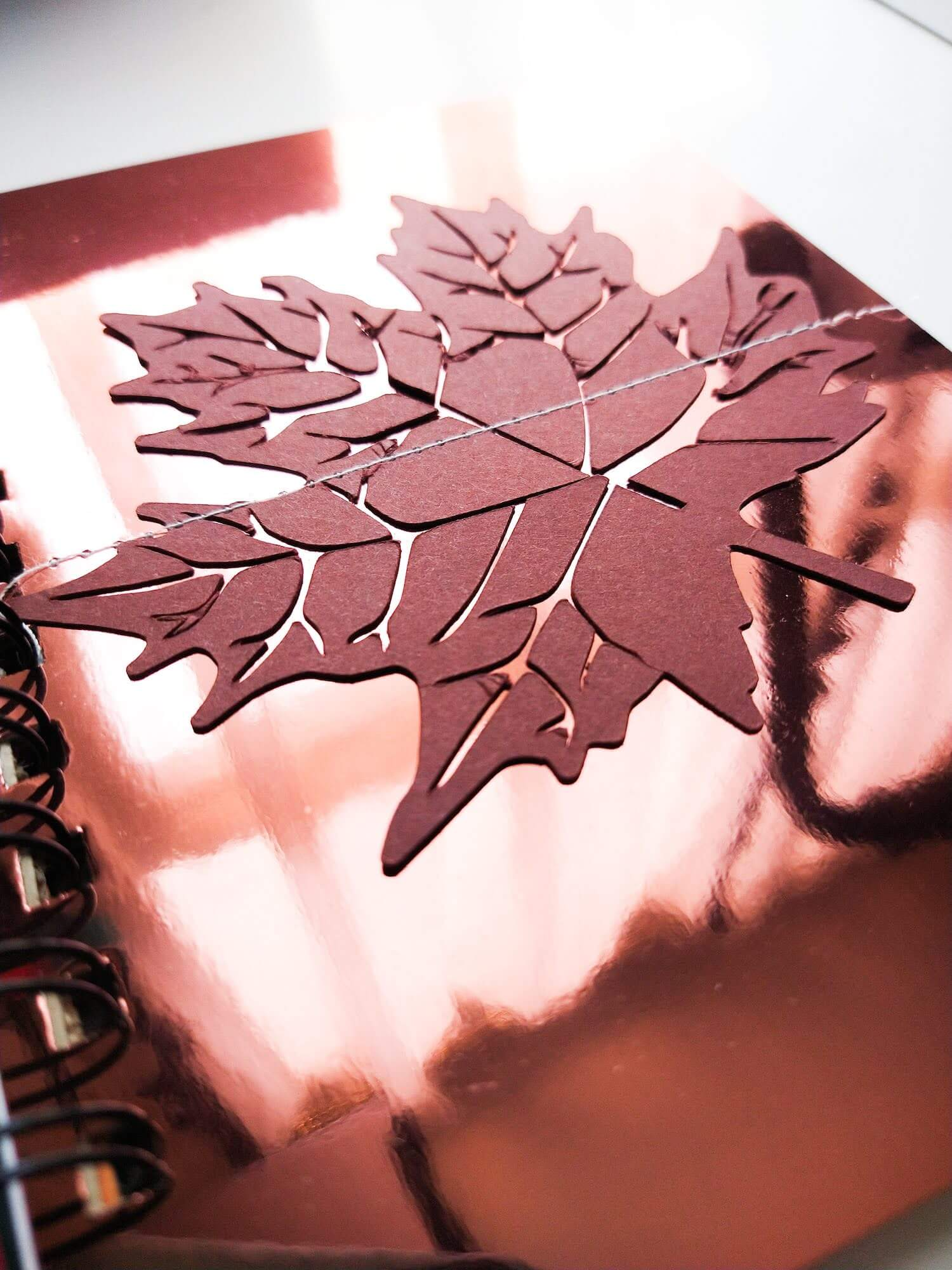 Copper Mirror Page and Paver Red Leaf