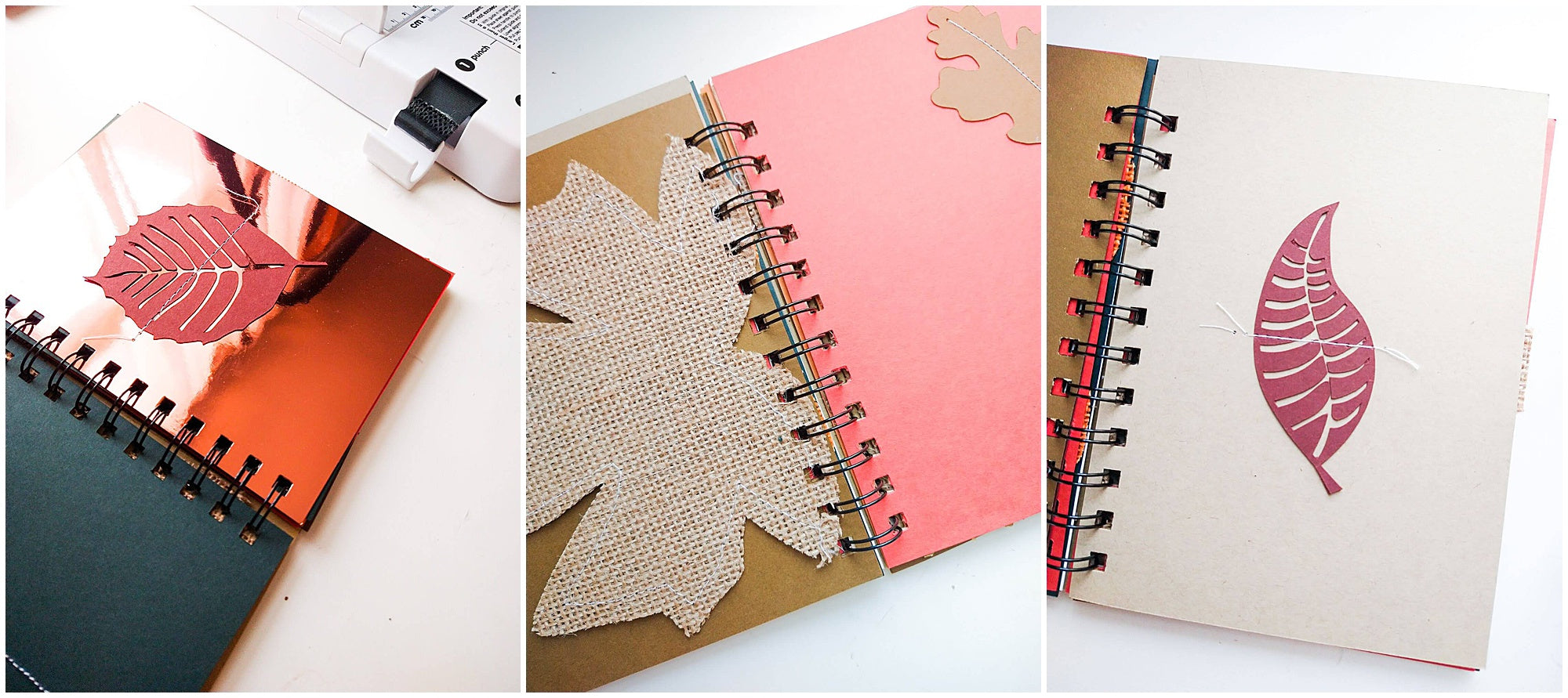 fall mini album leaves pages