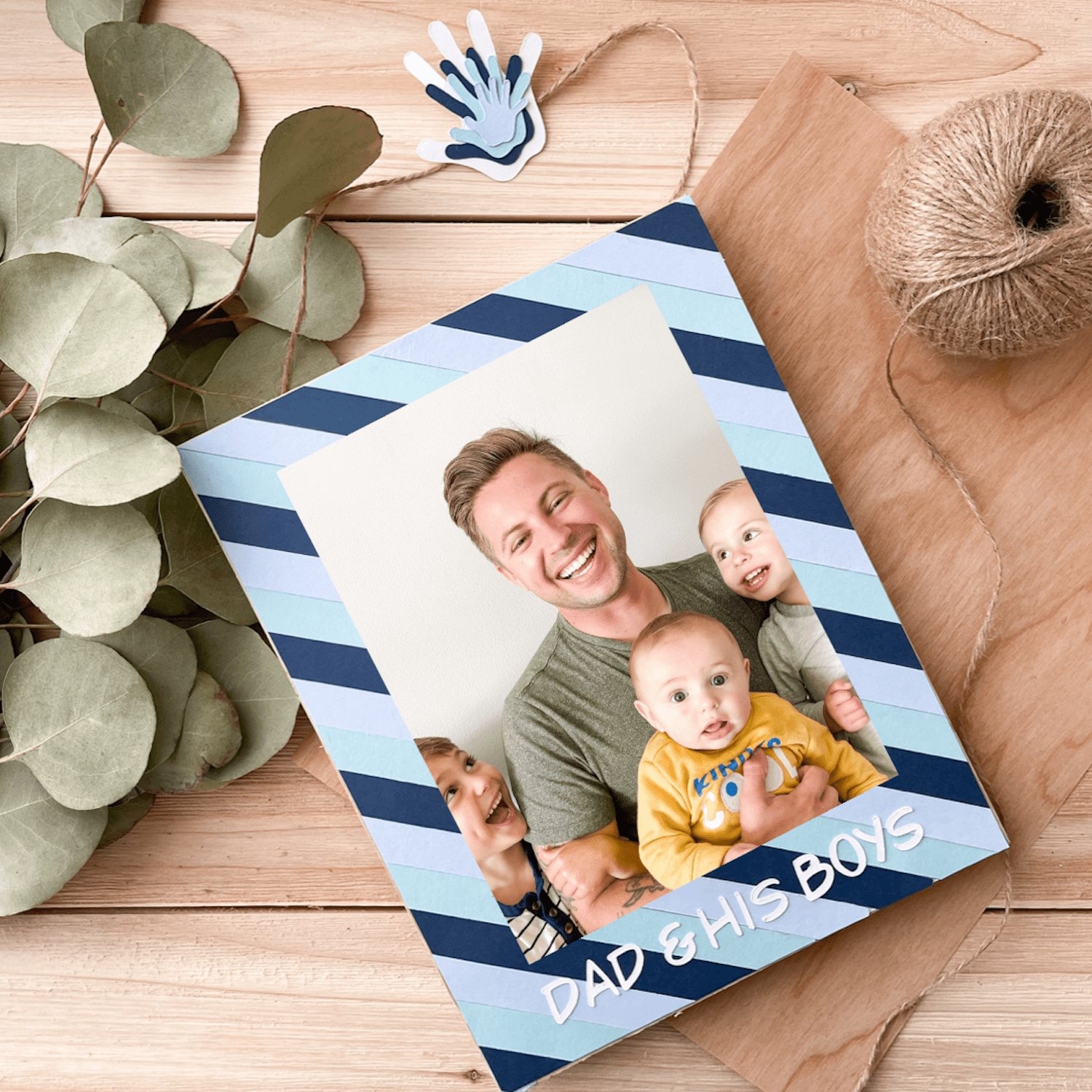 finished fathers day photo frame