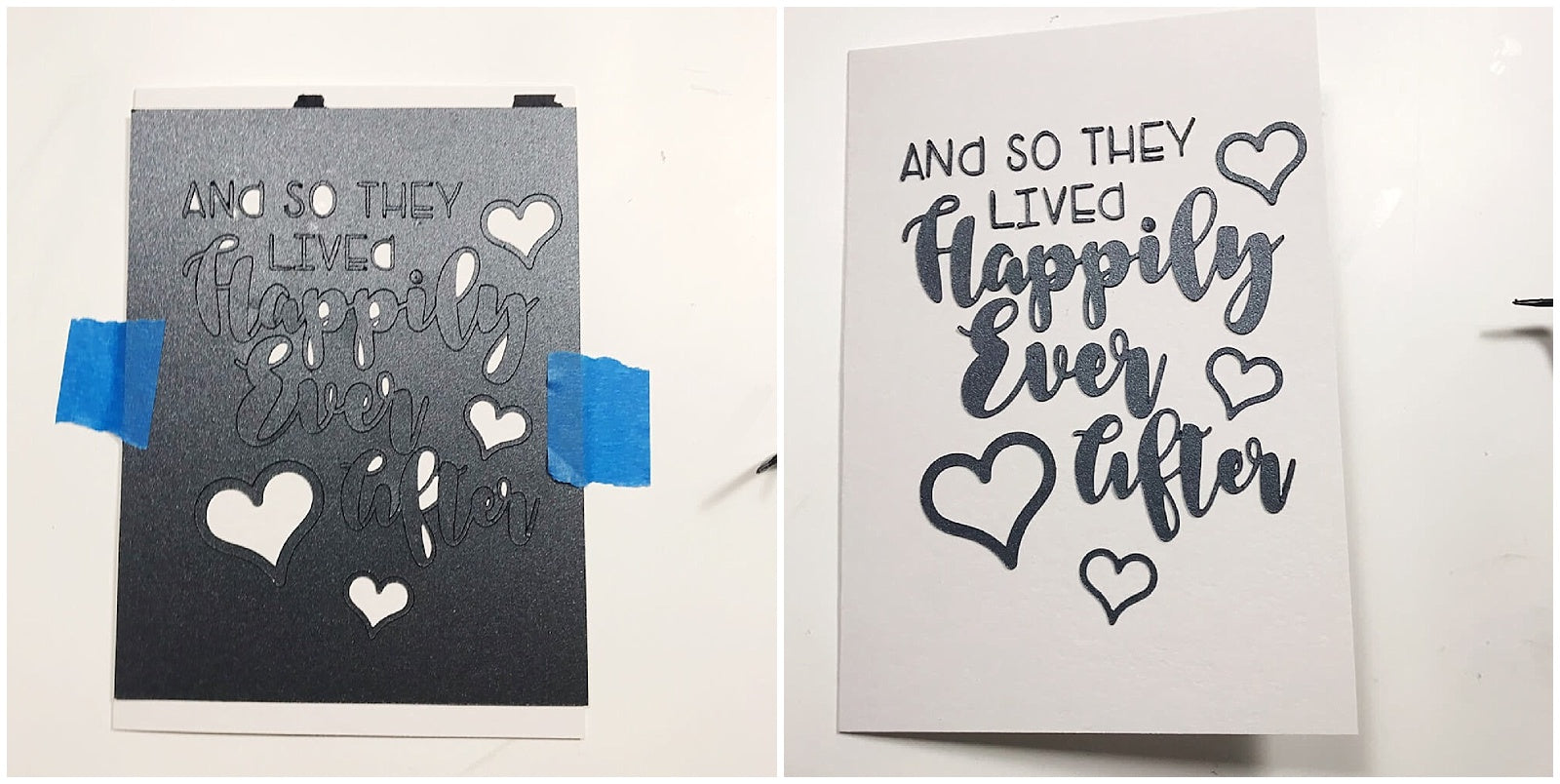Faux Calligraphy Cardstock Paper Lettering Wedding Greeting Card