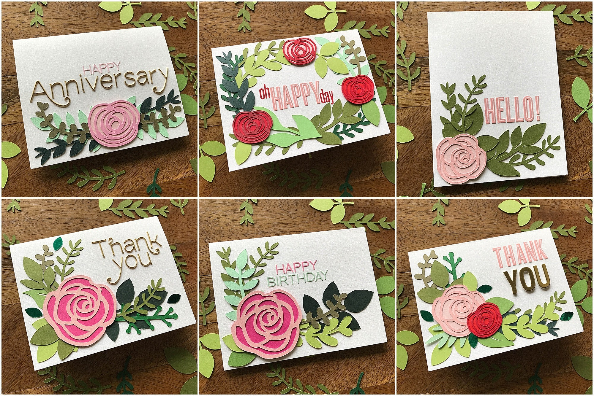 Floral greenery cards made from Cardstock Warehouse paper