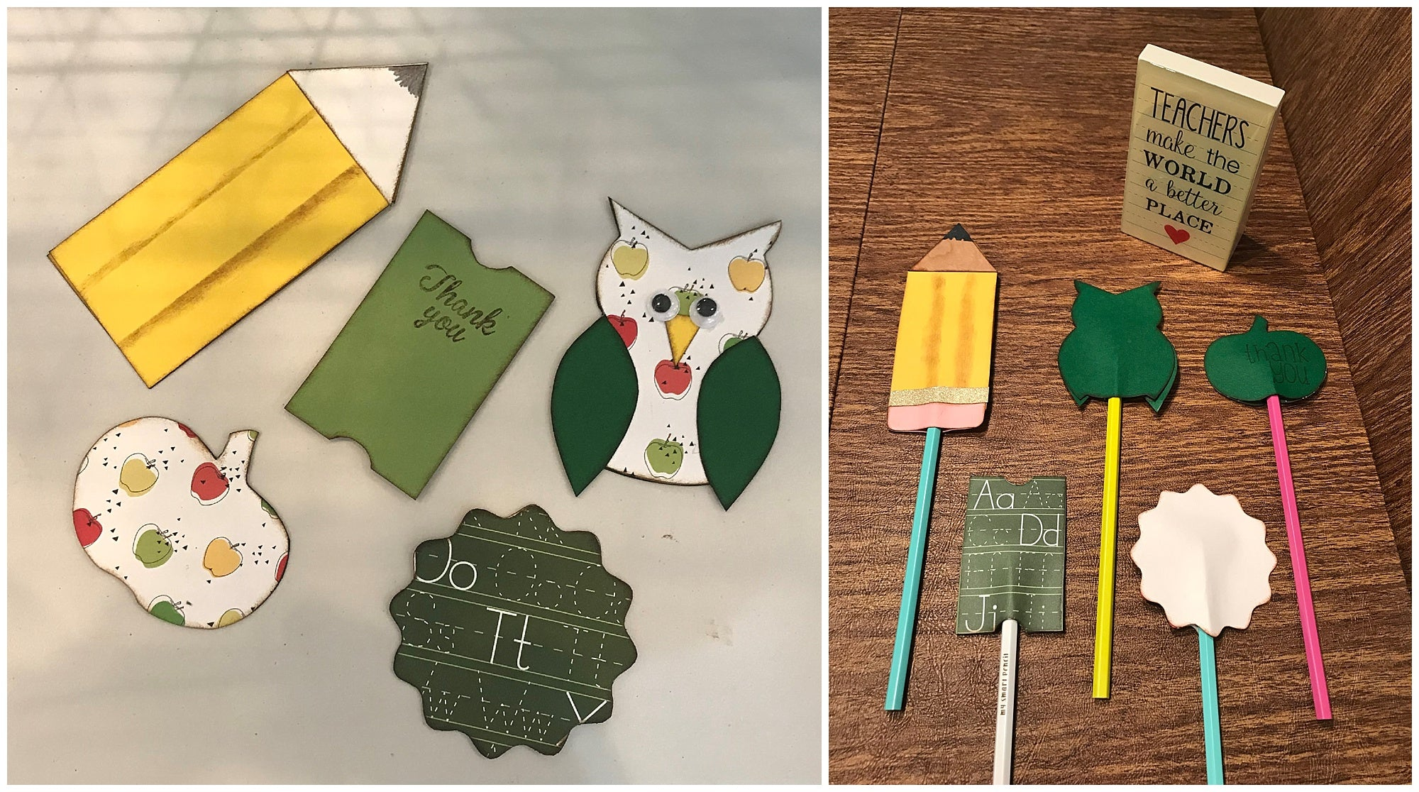 DIY Cardstock Paper Teacher Appreciation Pencil Toppers
