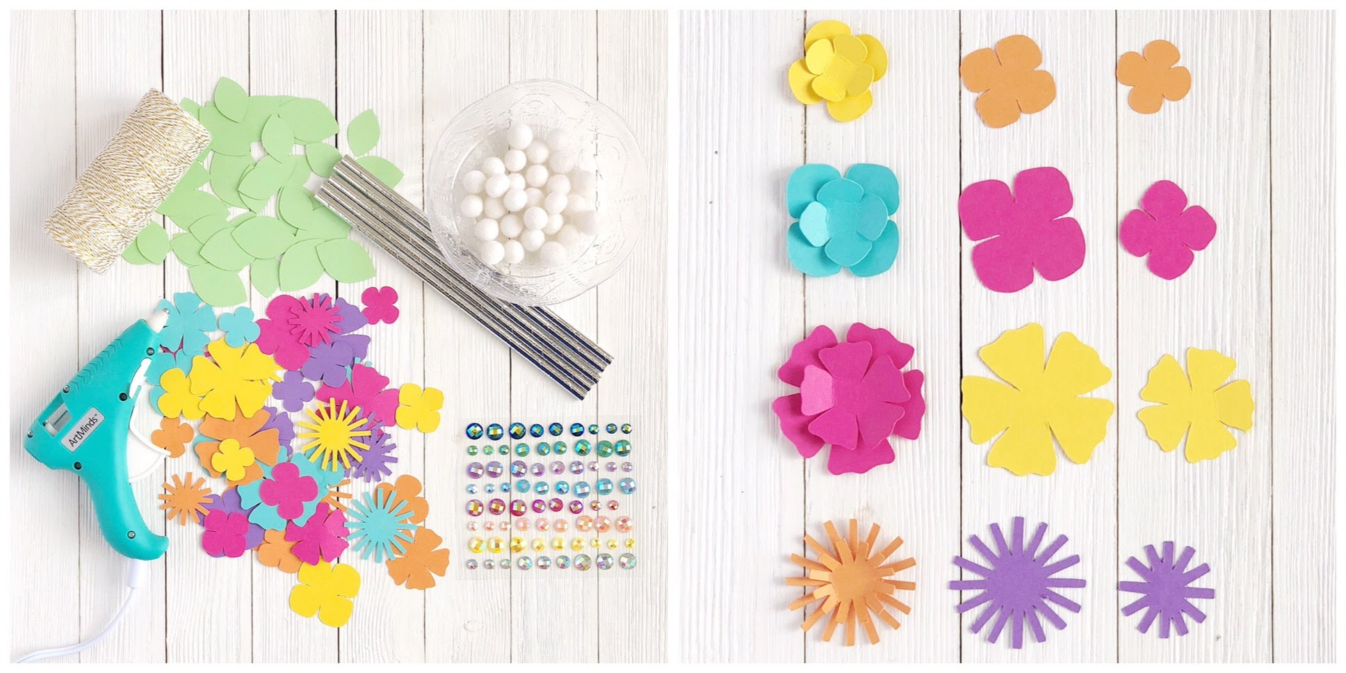 DIY Cardstock Paper Hawaiian Floral Lei Supplies