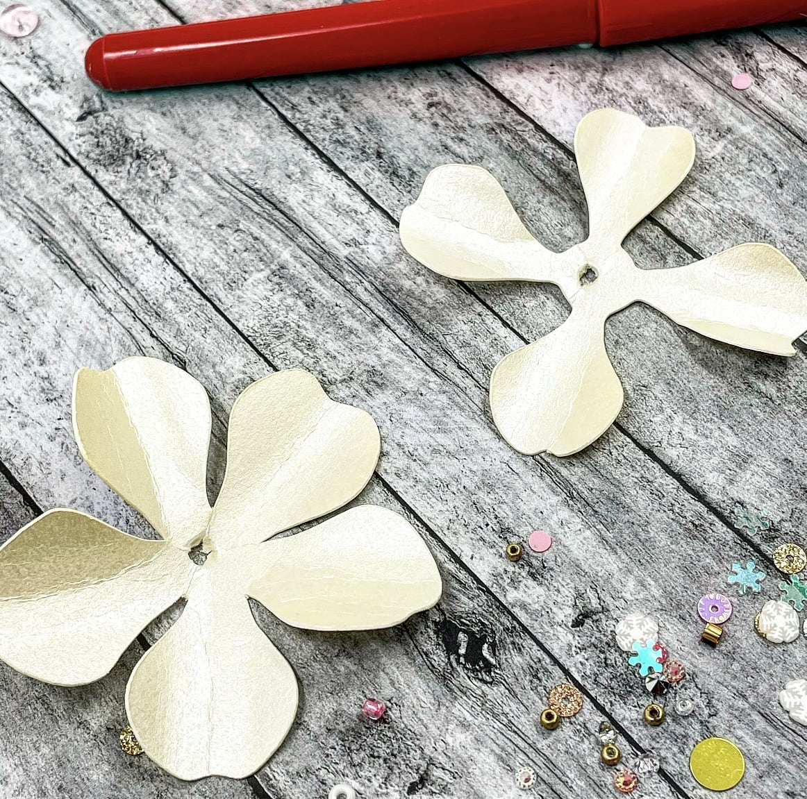 rounding petals for paper flowers