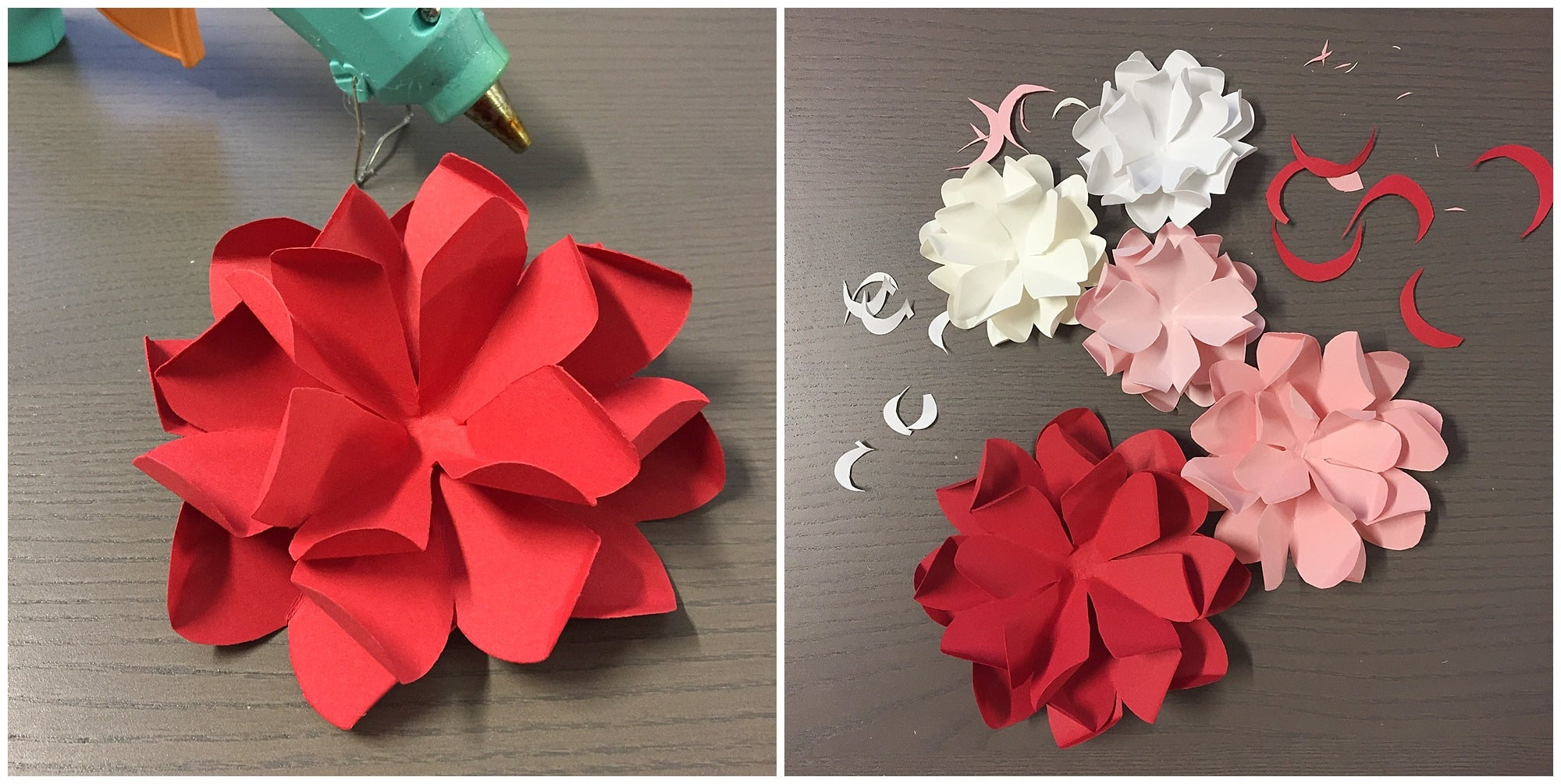 flower outer layers for paper flowers wreath