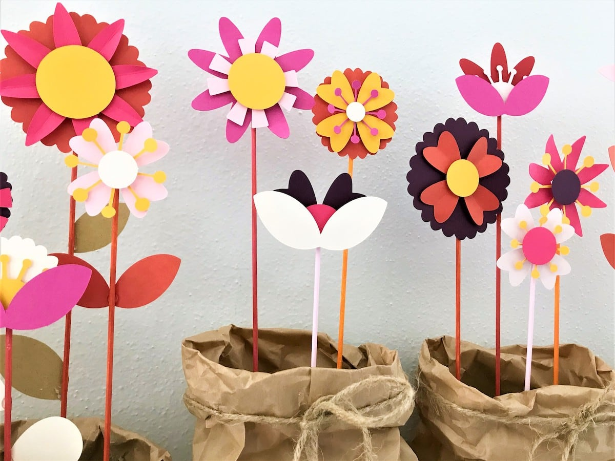 close up of paper flower decor