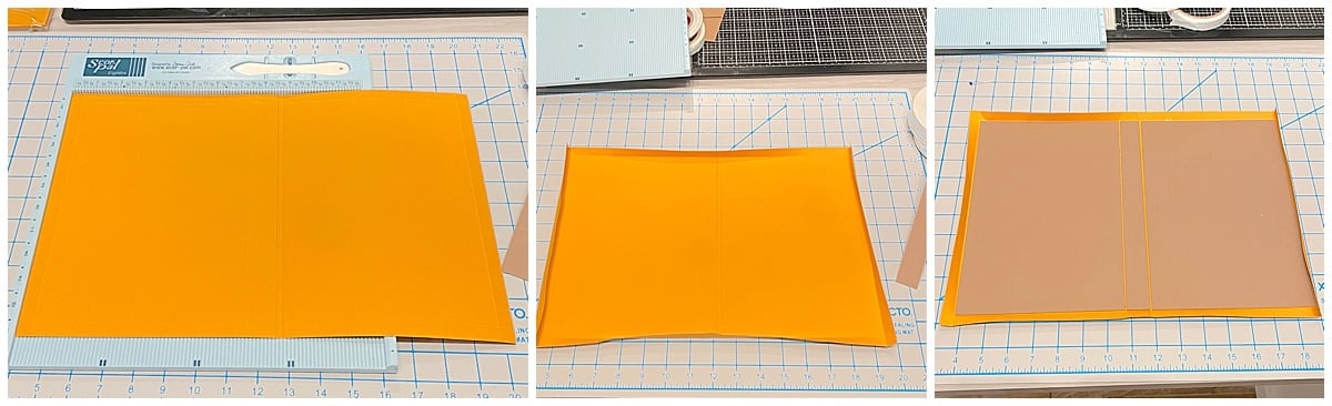 attaching chipboard to paper for notepad folio