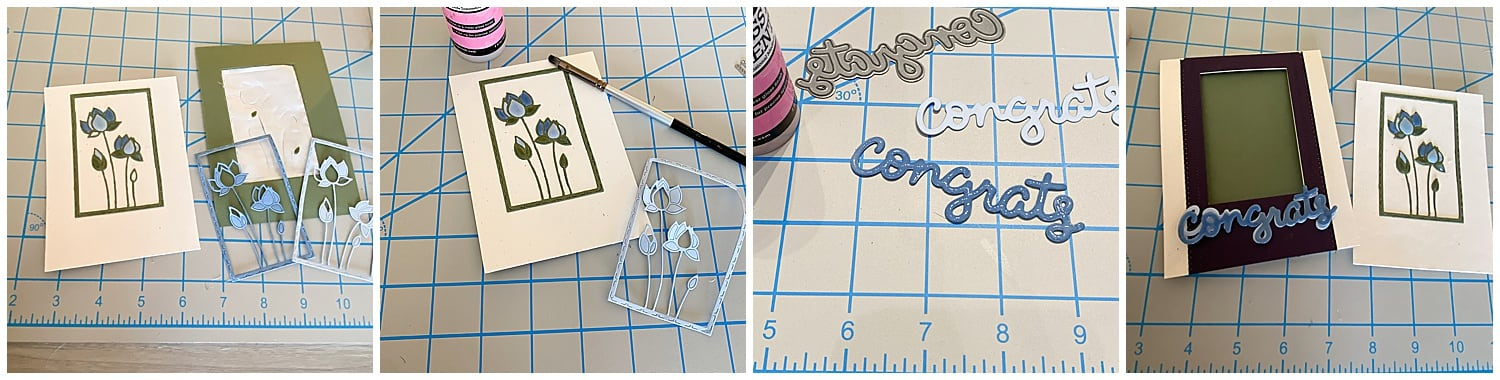 assembling glossy accents card