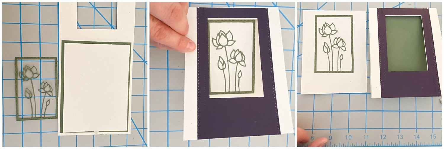 die cut flower pieces for glossy accents card