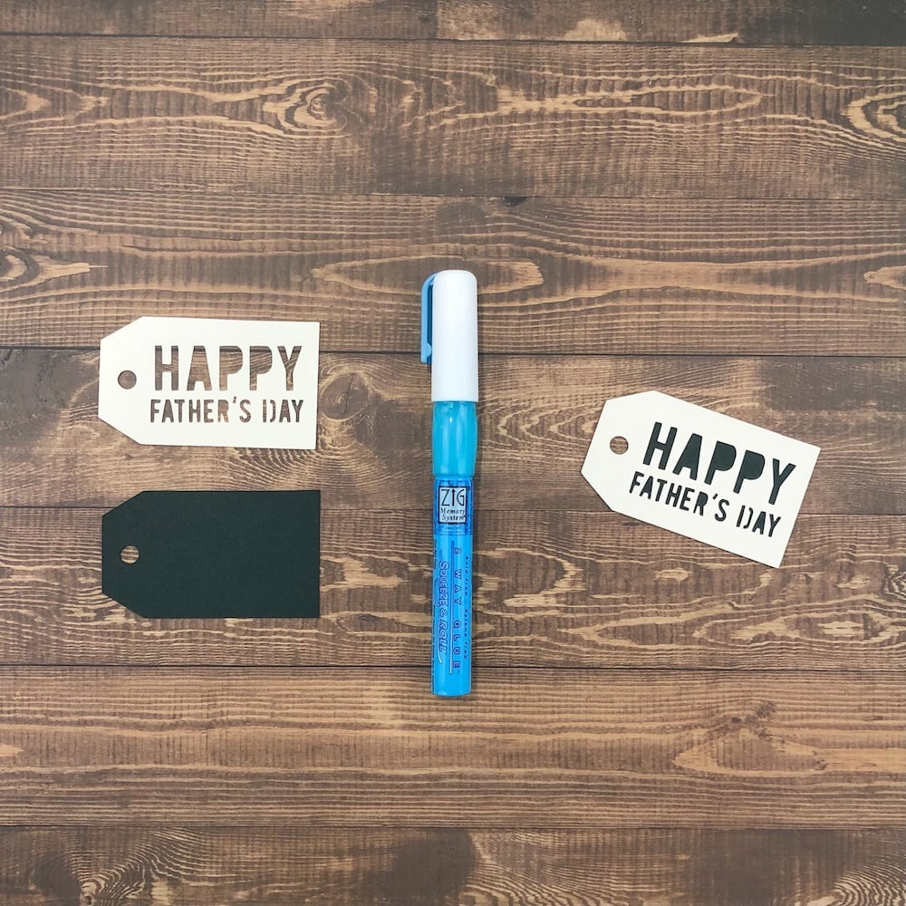 fathers day gift tag die cut pieces assembly