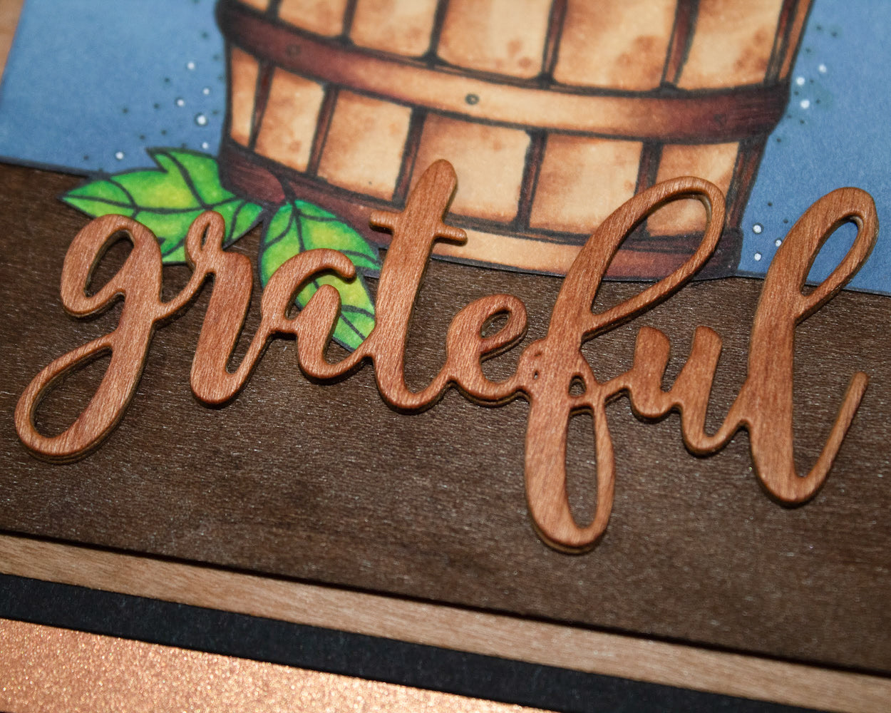 Grateful Pumpkin Cardstock Paper Greeting Card