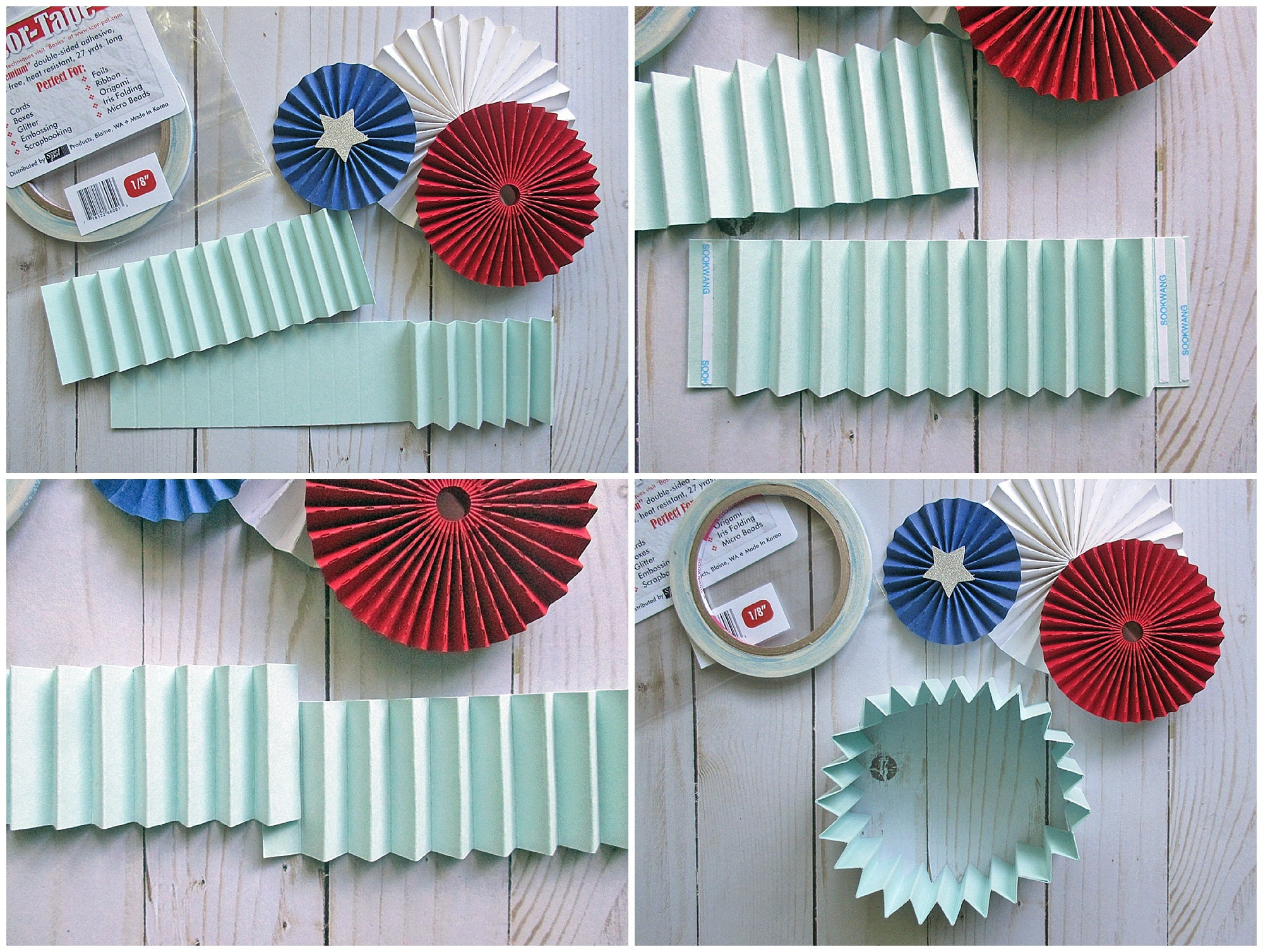 Diy Patriotic Rosette Wreath Cardstock Warehouse Paper Company Inc