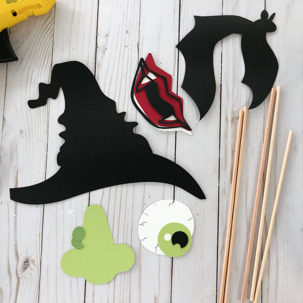 Halloween Cardstock Paper Photobooth Props Die Cut Pieces