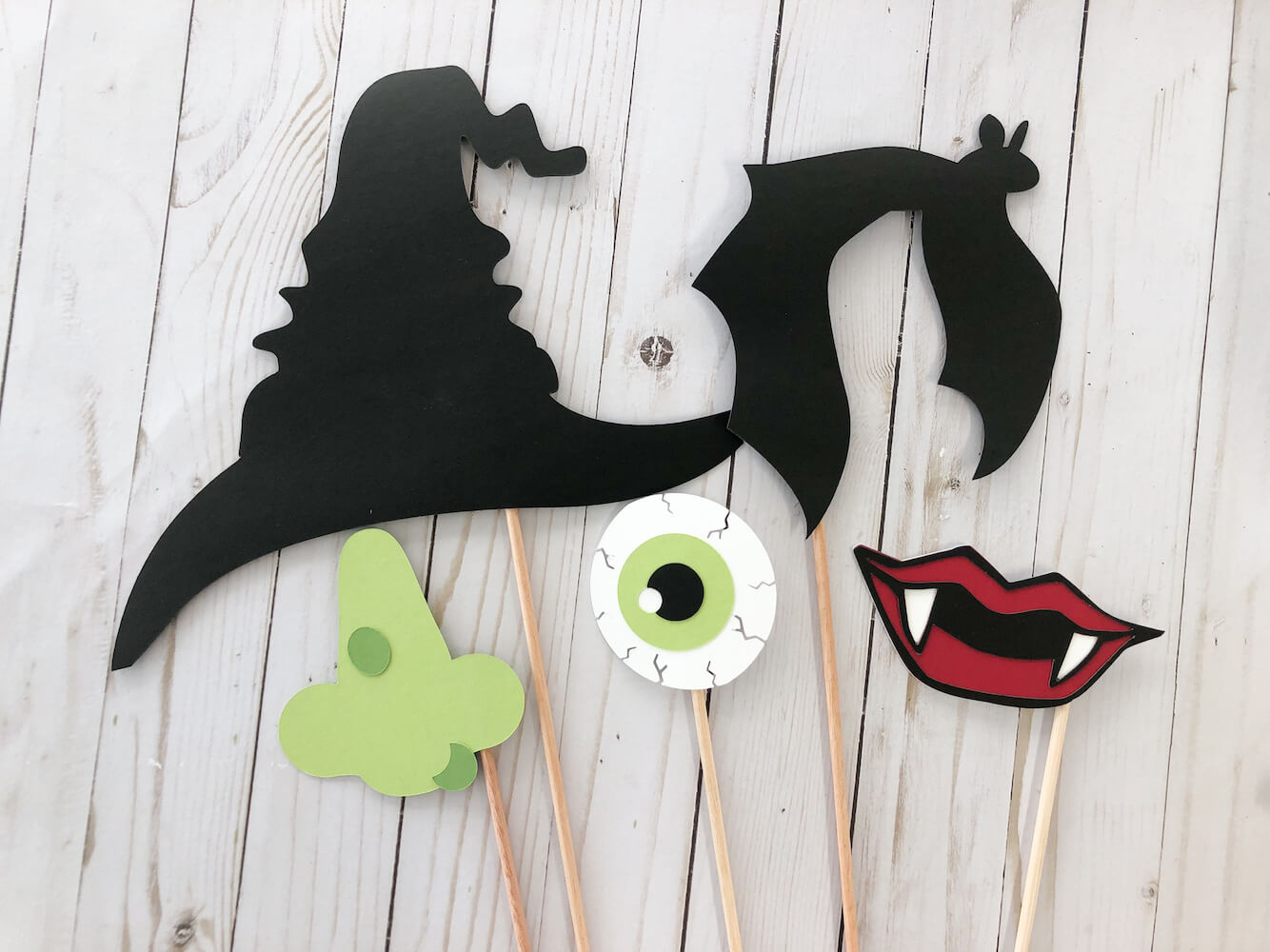 Halloween Cardstock Paper Photobooth Props