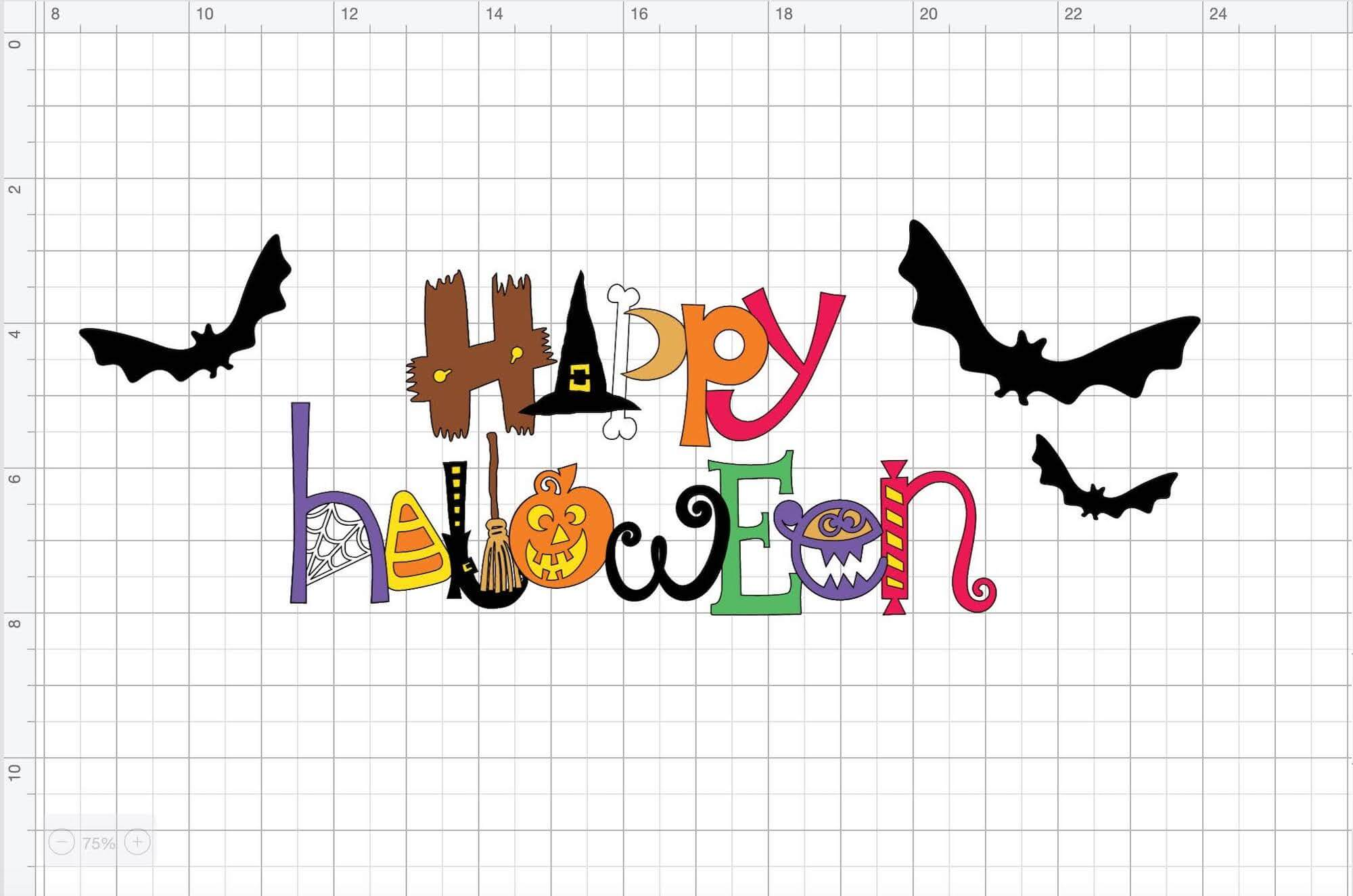 Framed Halloween Sign Design Space File by Rob and Bob