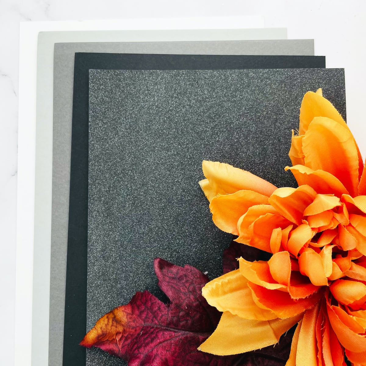 grayscale paper colors for haunted house card