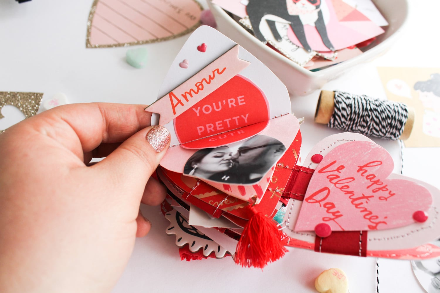 valentines day heart mini album