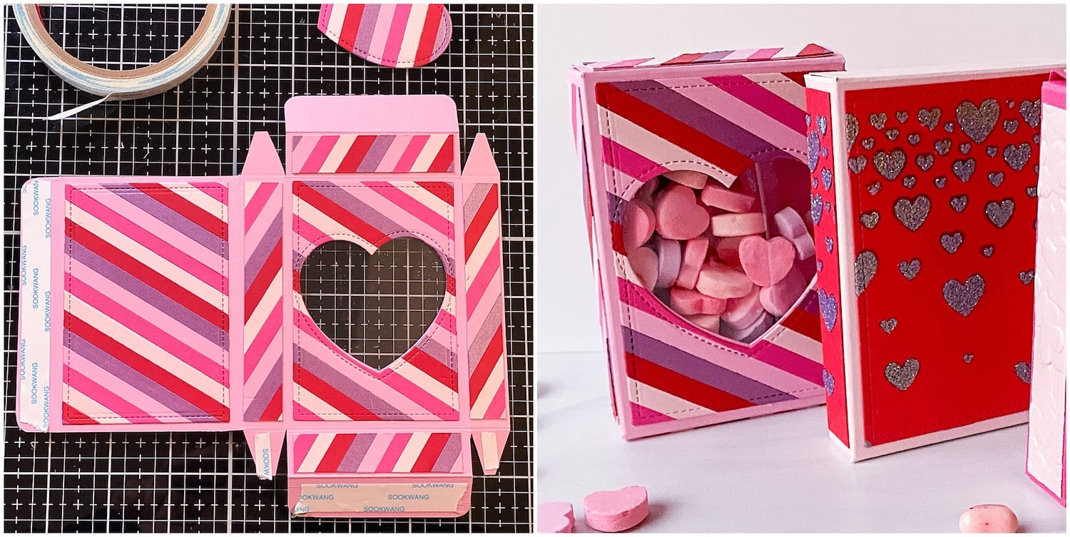 Assembling Valentine Candy Heart Boxes