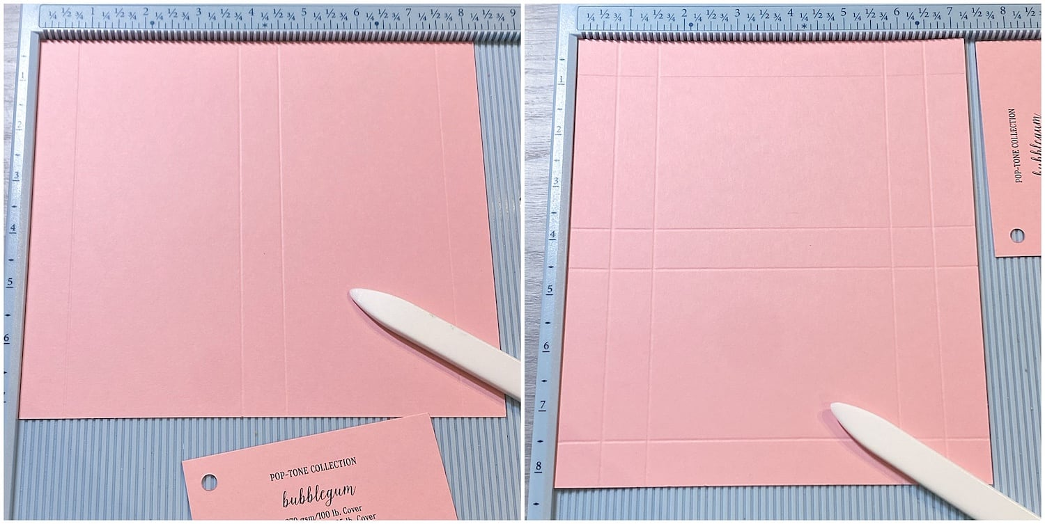 scoring bubblegum paper for heart candy valentine's day boxes