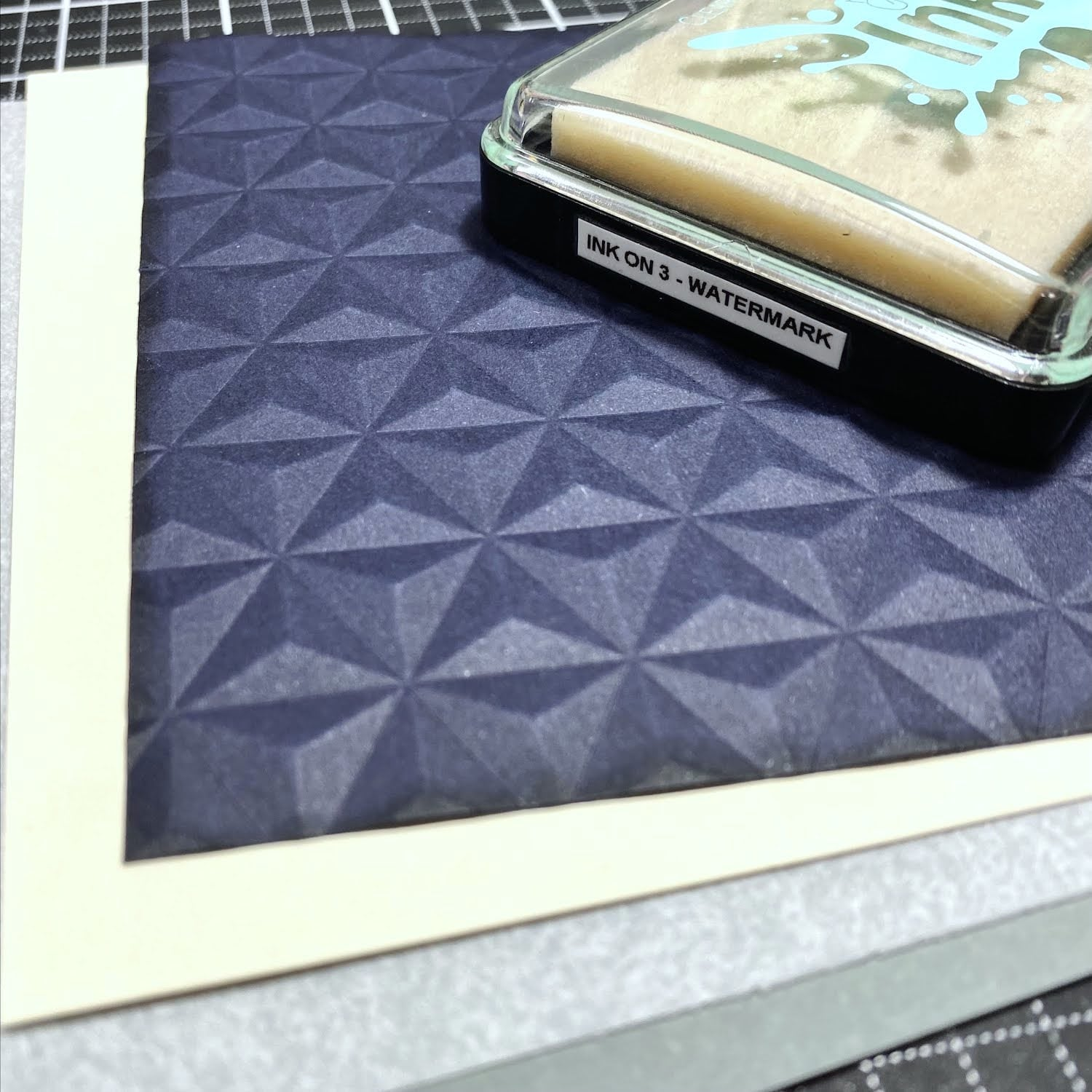 adding Ink on 3 watermark ink to embossed background edges
