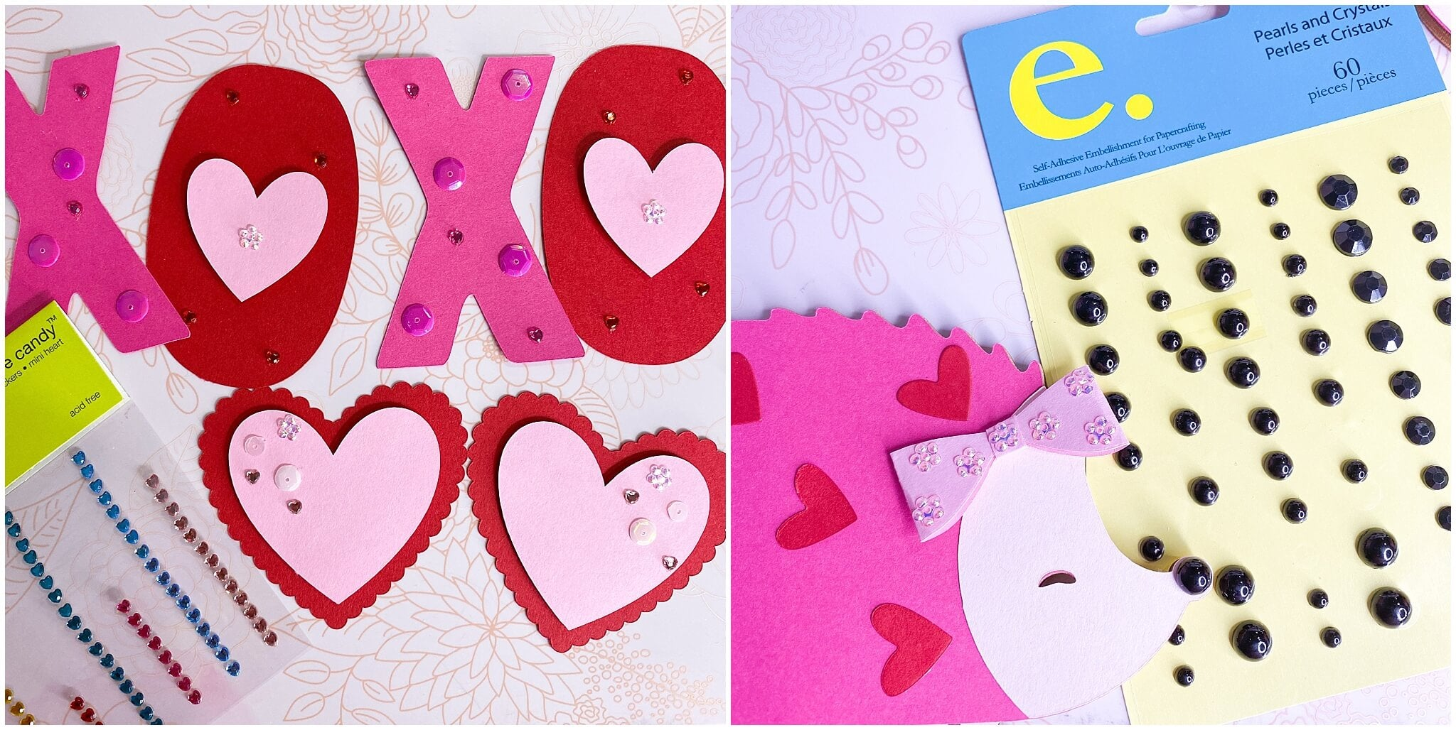 HedgeHUGS and Kisses Banner embellishments