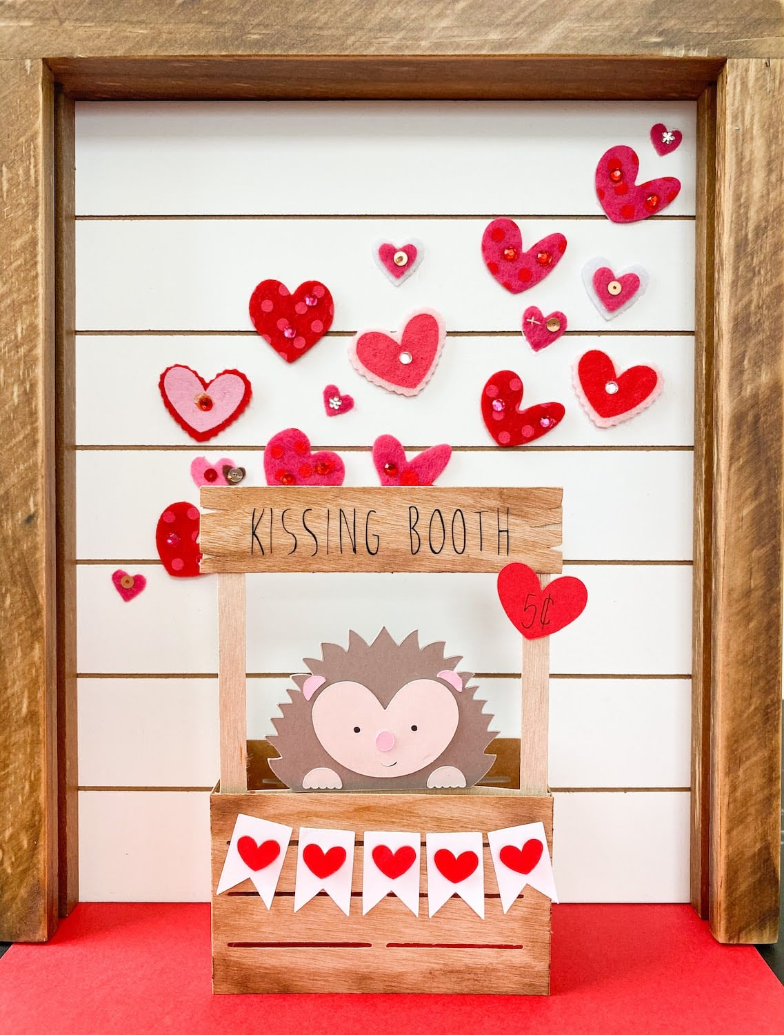 Pop-Up Hedgehog Kissing Booth Card