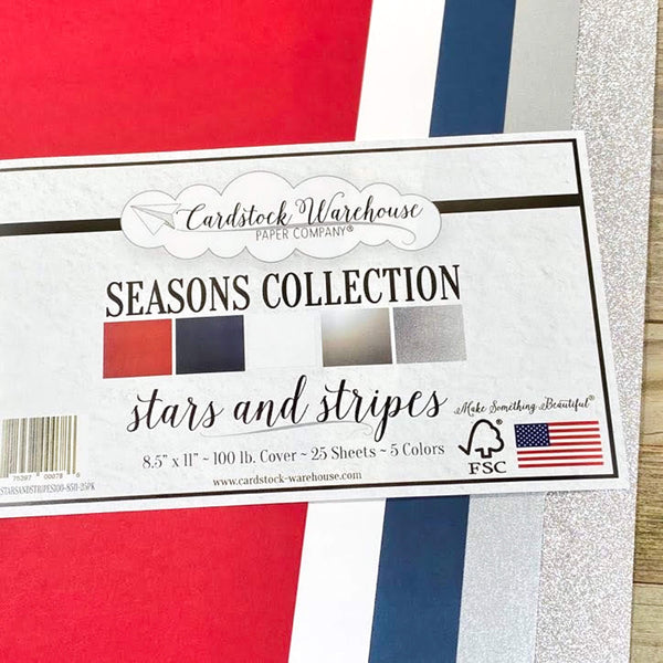 Stars and Stripes 100lb Multi-Pack from Cardstock Warehouse Paper Company