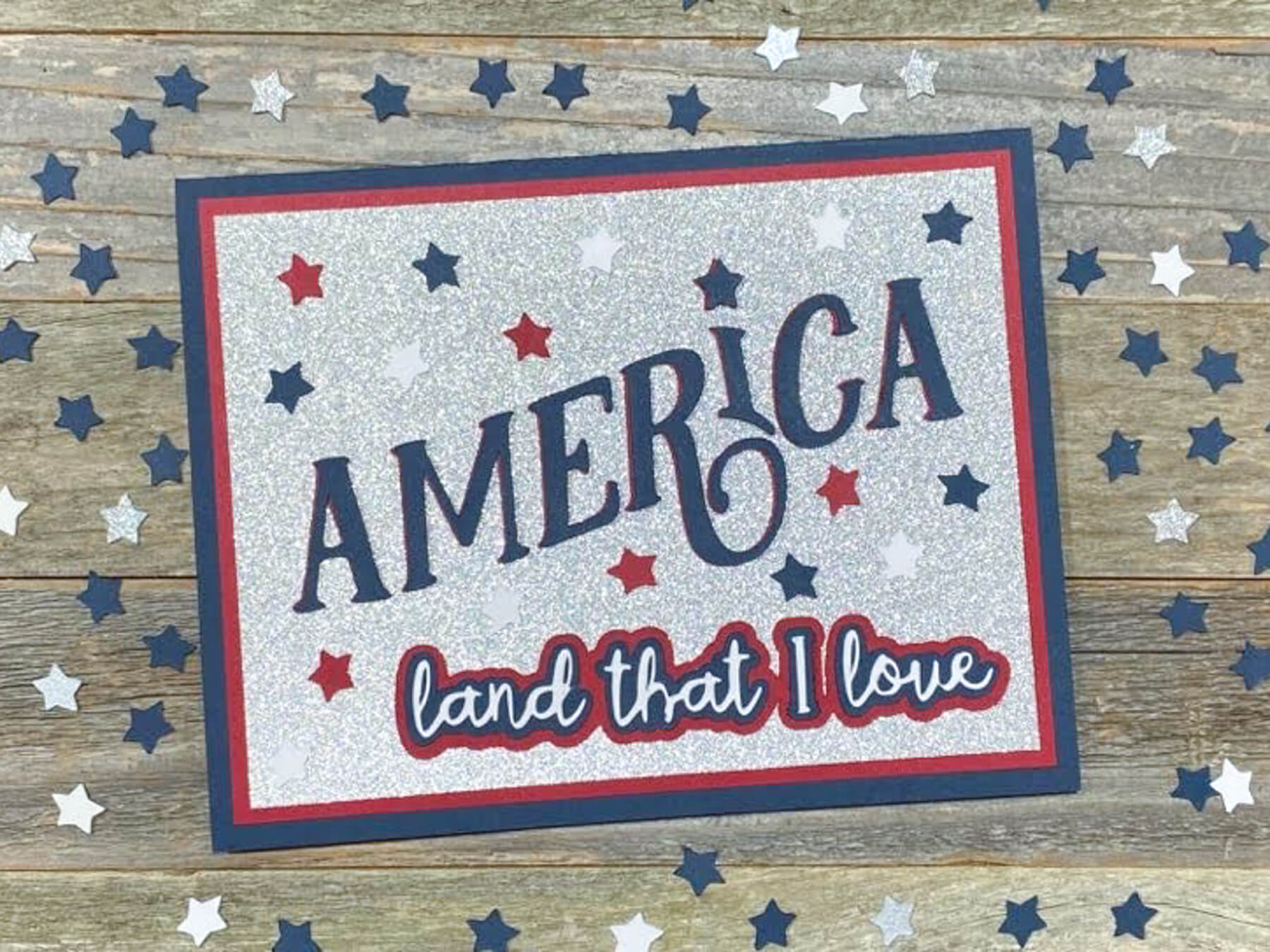 America Land That I Love 4th of July Card