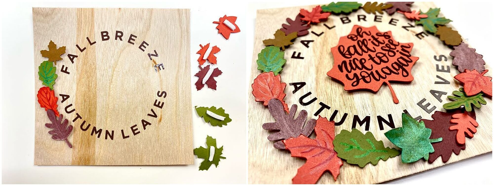 Adding leaves to fall frame