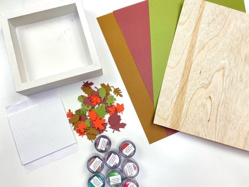 Fall Leaves Frame Supplies