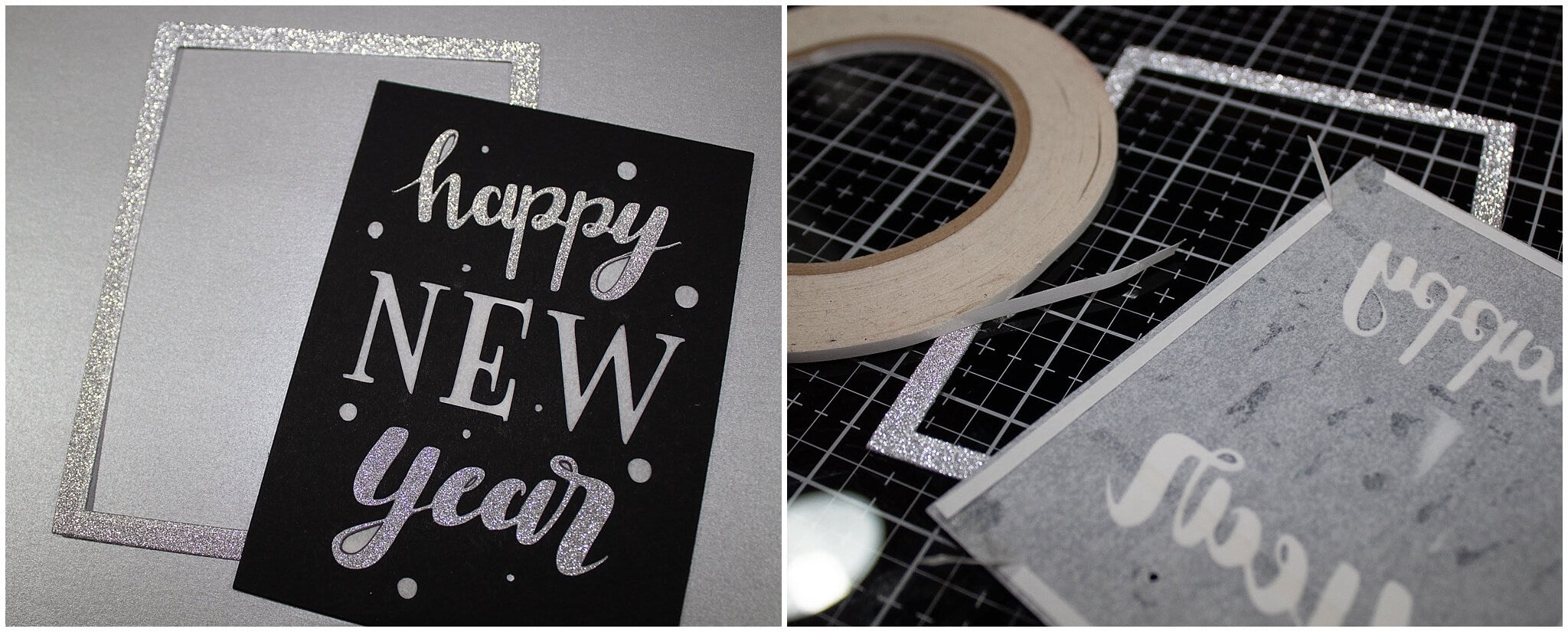 Light Up Cardstock Paper New Year's Eve Card