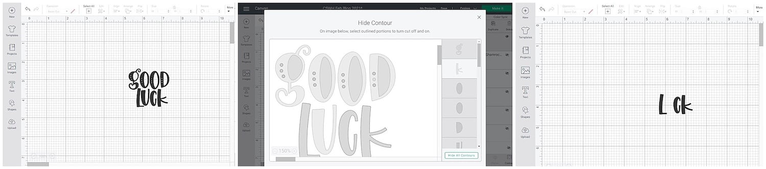 Editing Cricut file to create St. Patrick's Day Luck Card