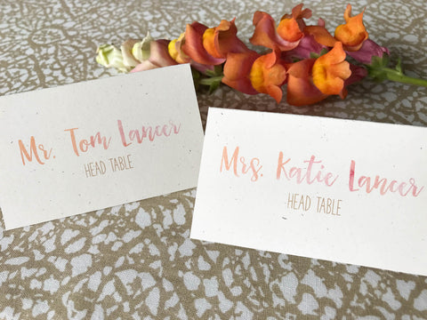 Place and Escort Cards