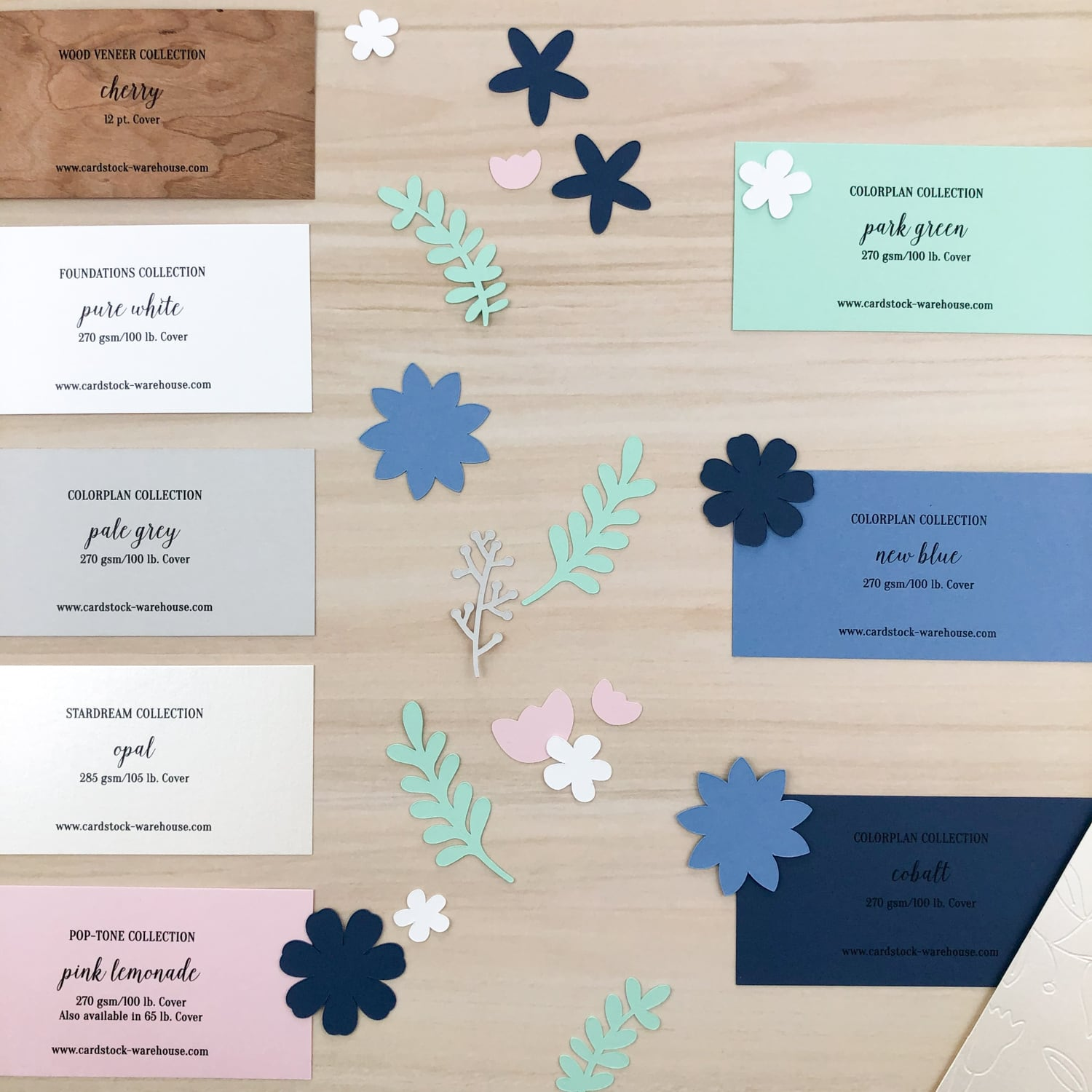 papers used for floral mother's day card