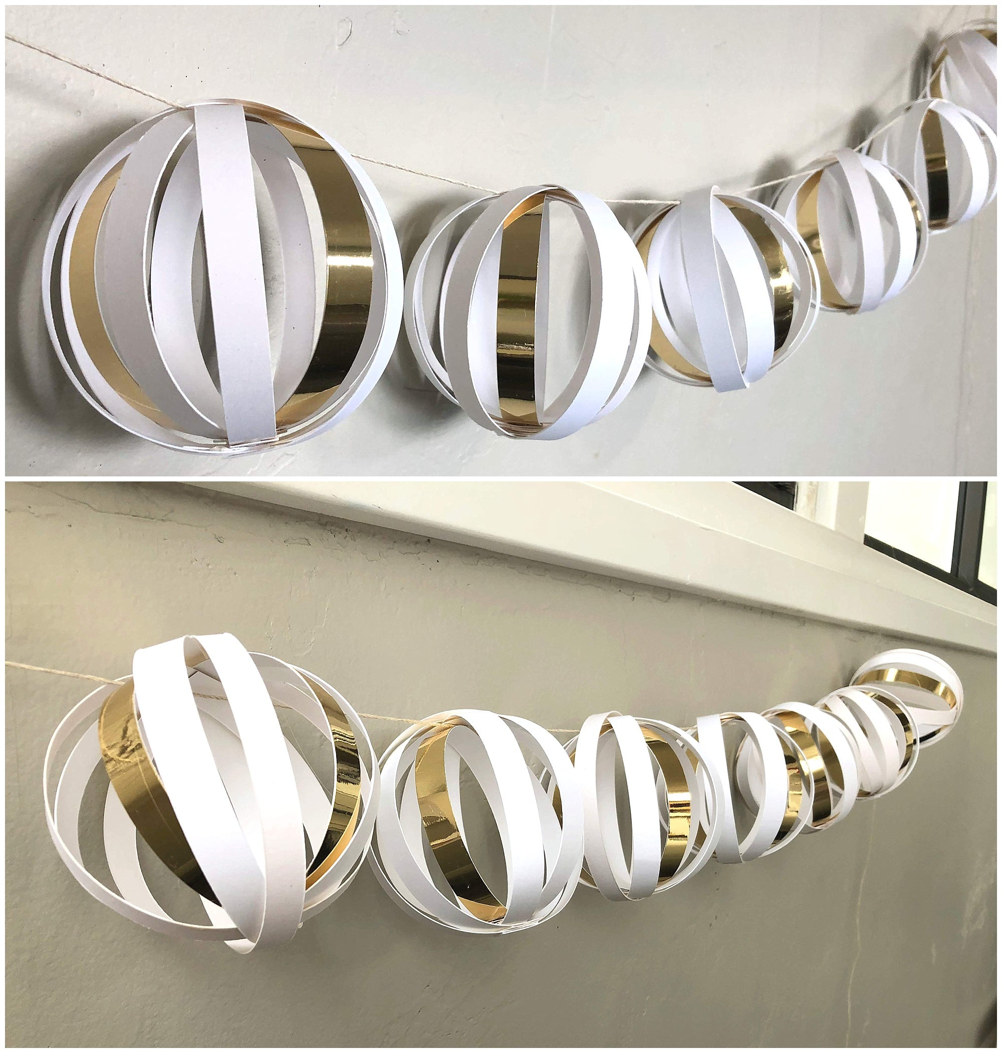 DIY Wedding Cardstock Paper Ball Garland Hanging