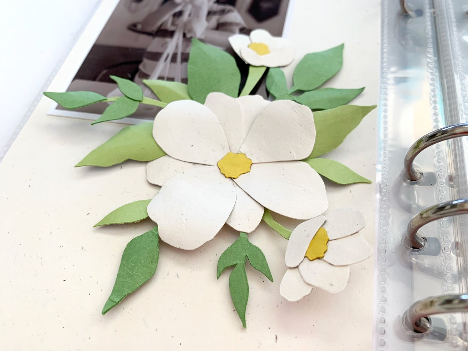 paper piecing cardstock flower embellishment