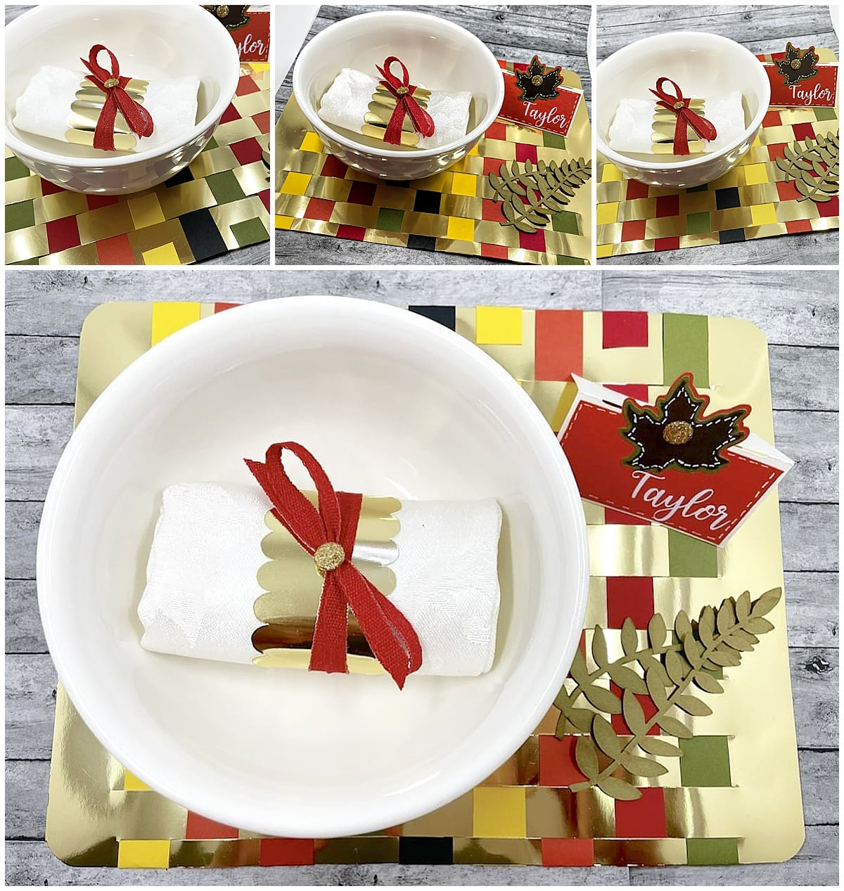 finished Autumn table place setting