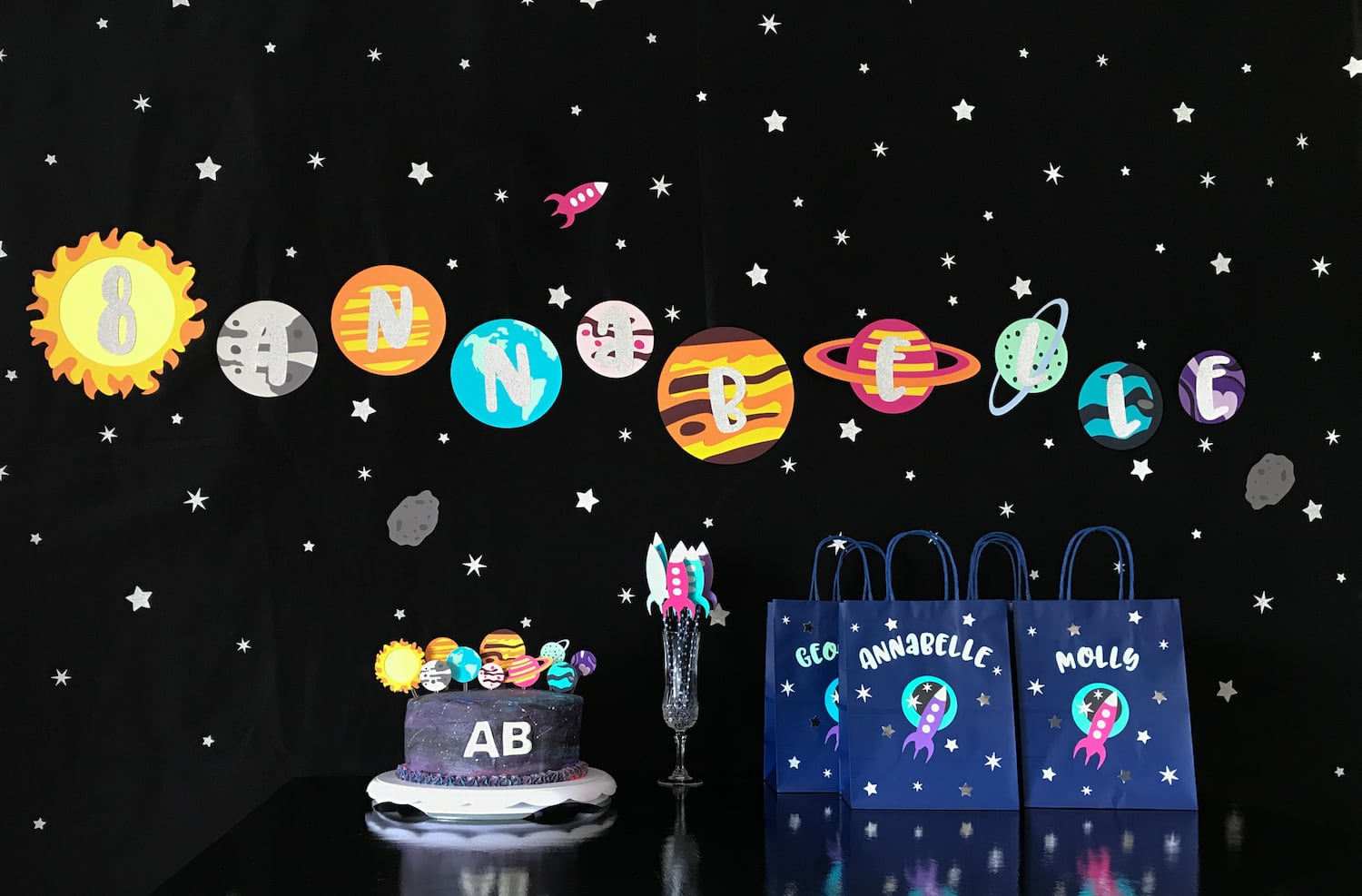 Solar System Planet Party Set-Up