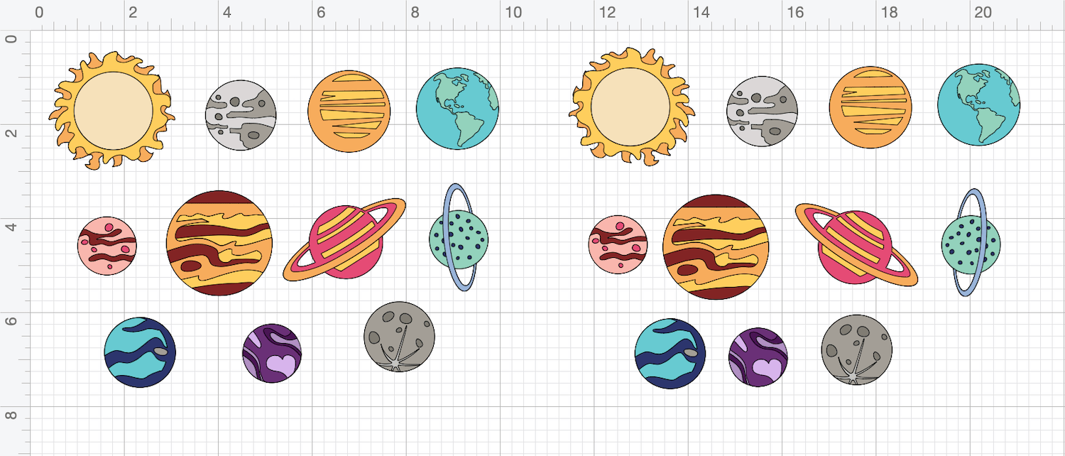 solar system cupcake toppers cricut files