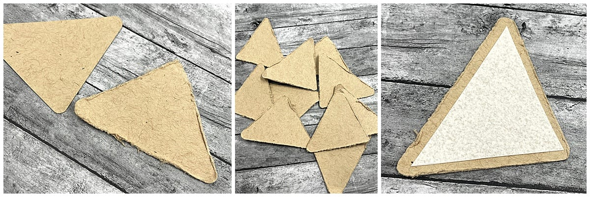 paper banner pennant pieces